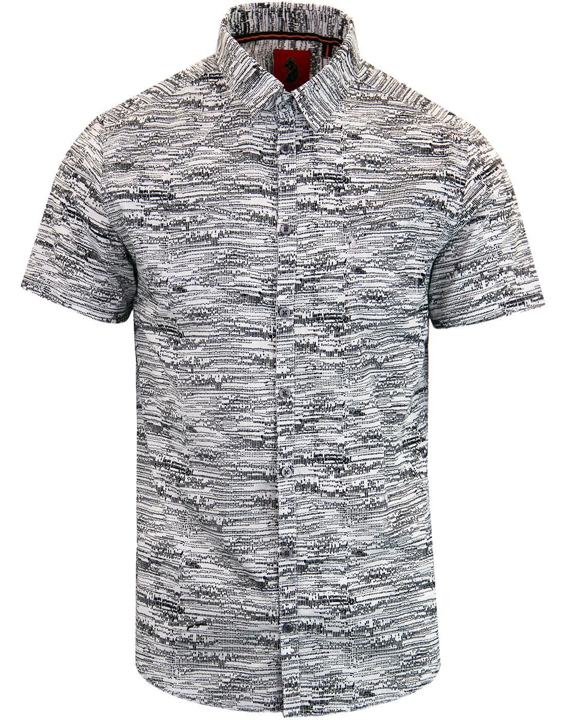 Gomez LUKE Men's Retro Abstract Print S/S Shirt