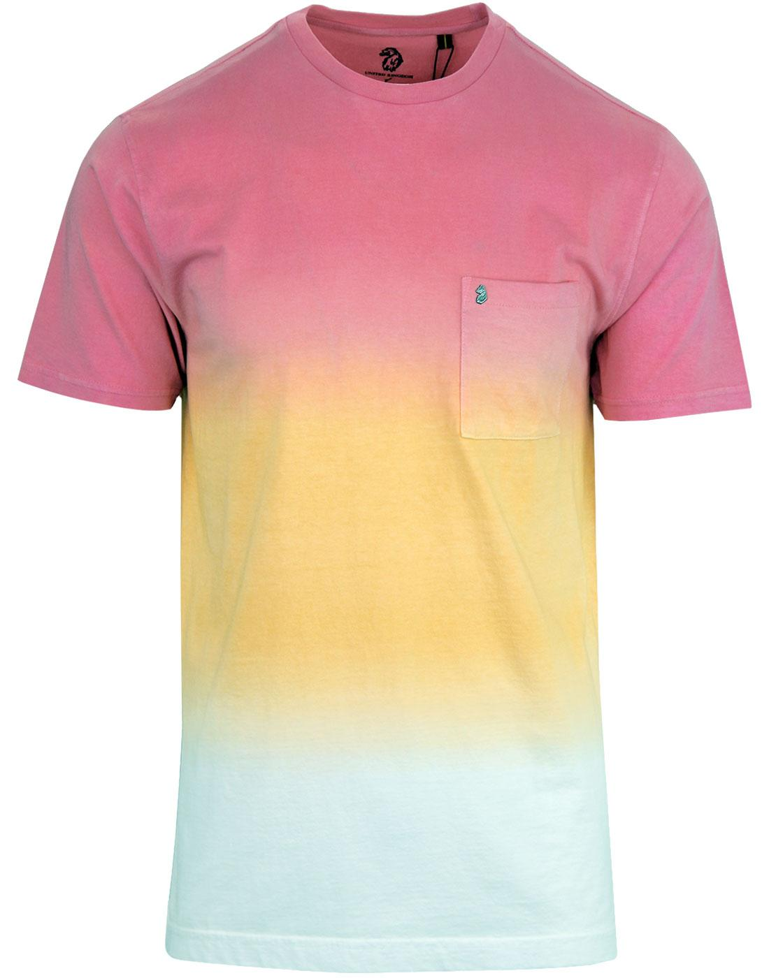 Half Soaked LUKE Men's Retro Indie Tie Dye Tee (F)
