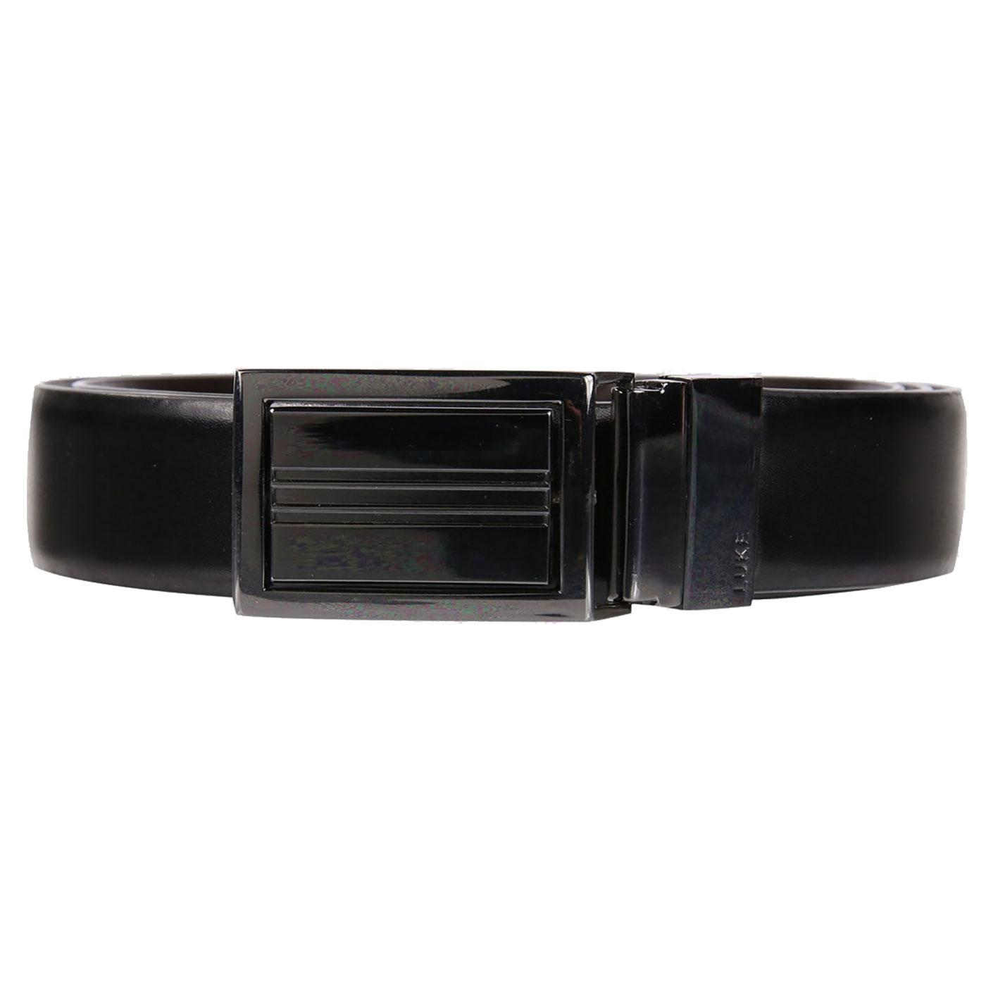 Jimmy's LUKE Retro Reversible Belt - Black/Brown