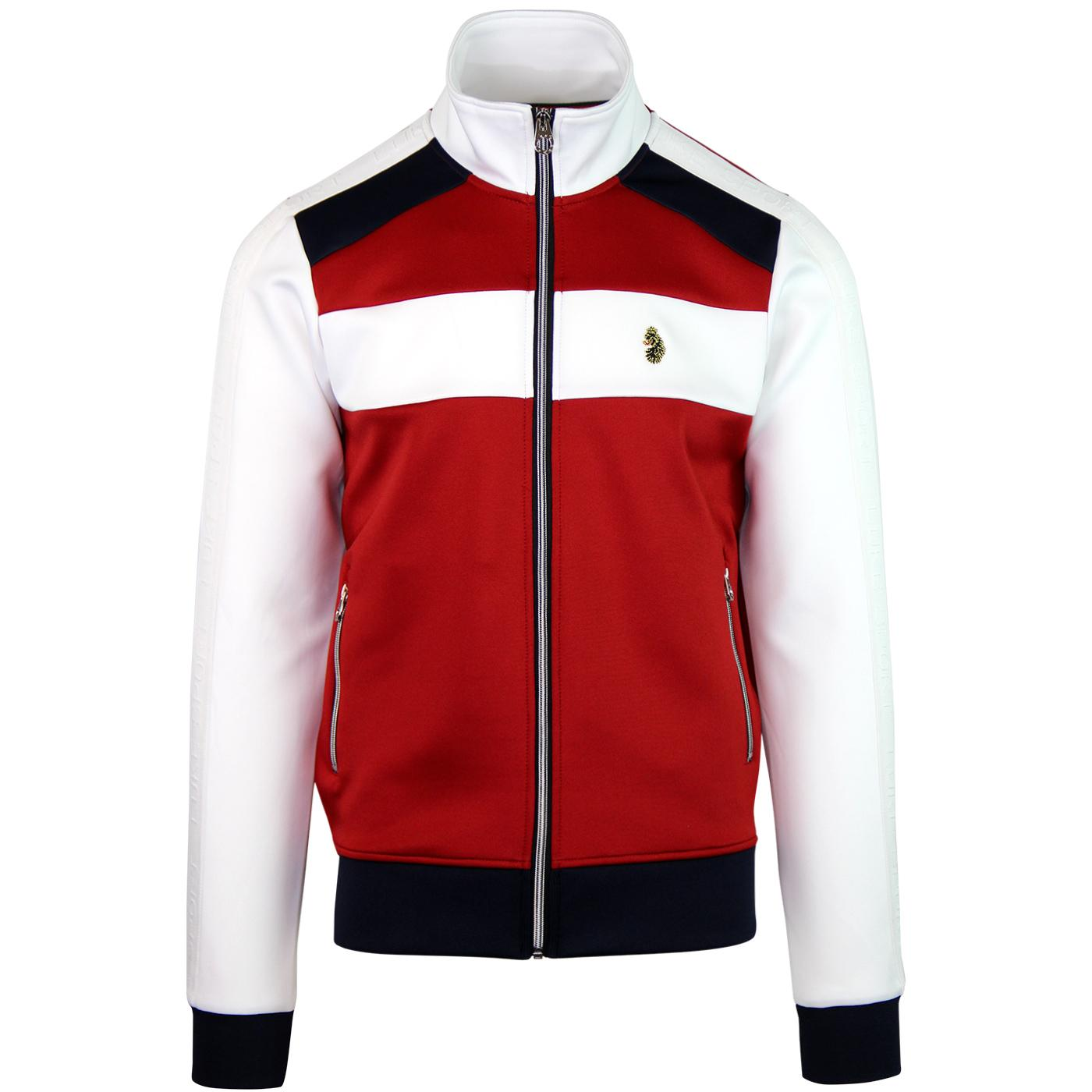Larkwood LUKE Mens Retro Panel Track Jacket (W)