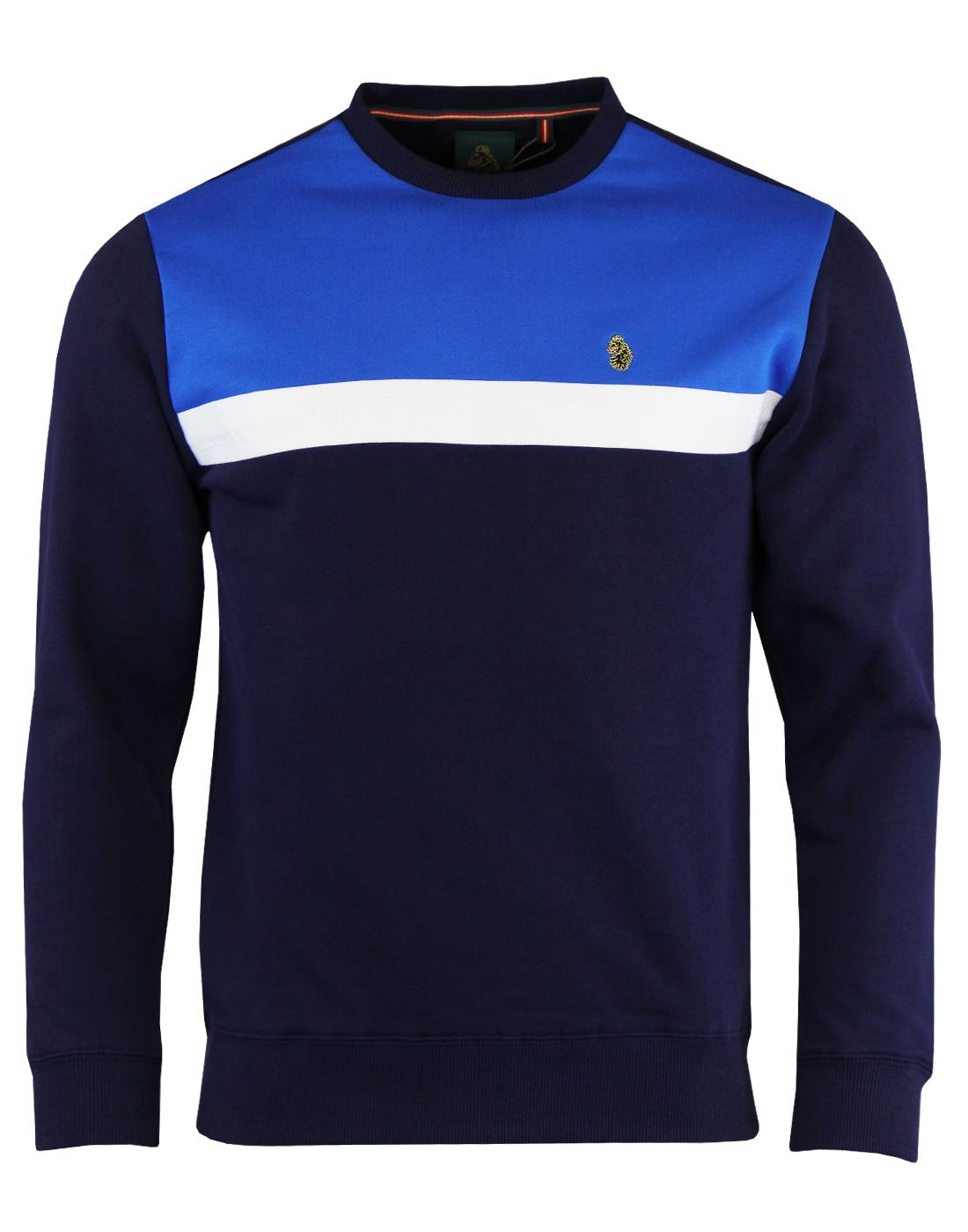 Micheal LUKE 1977 Retro Colour Block Sweatshirt