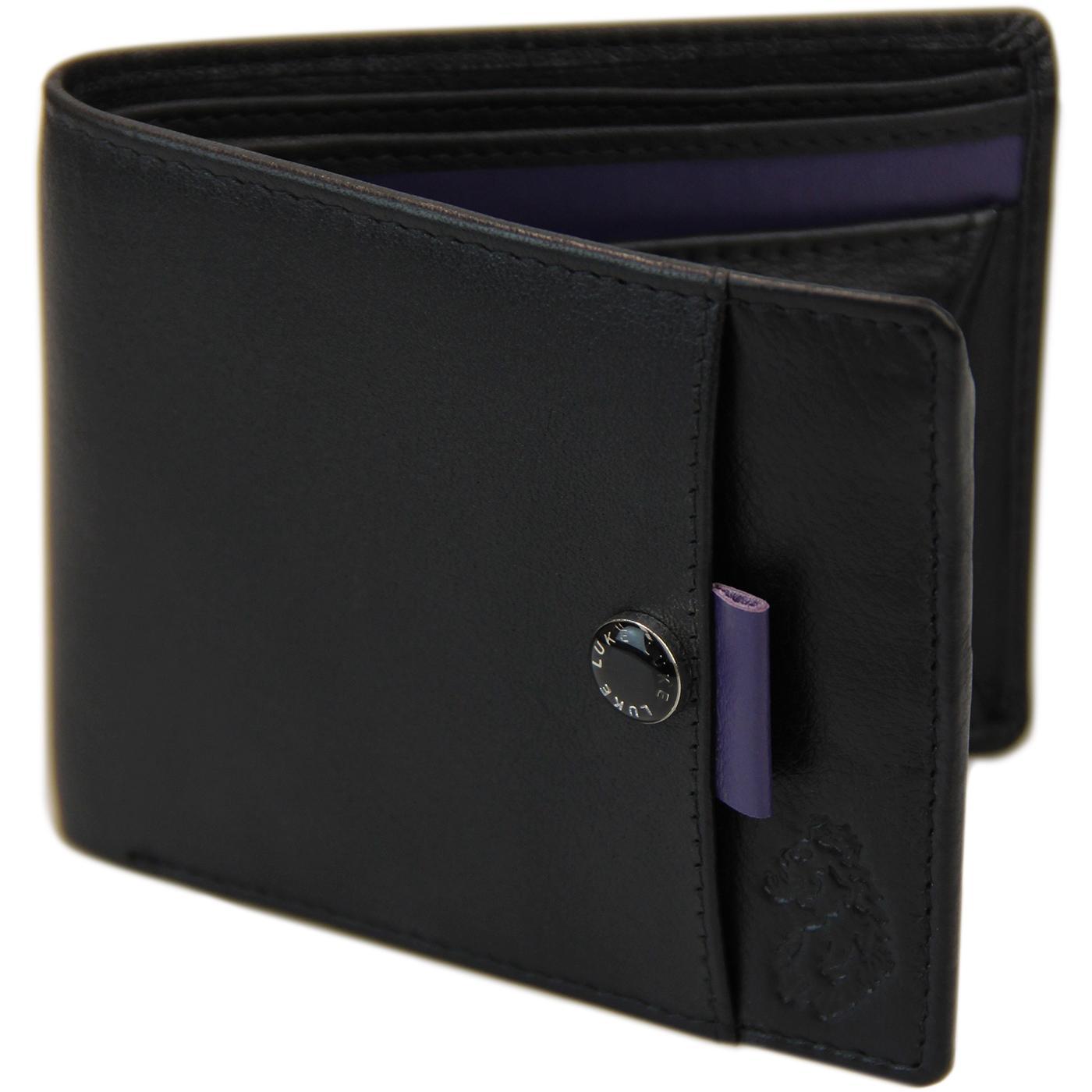 Miller LUKE Contrast Trim Leather Wallet (Black)