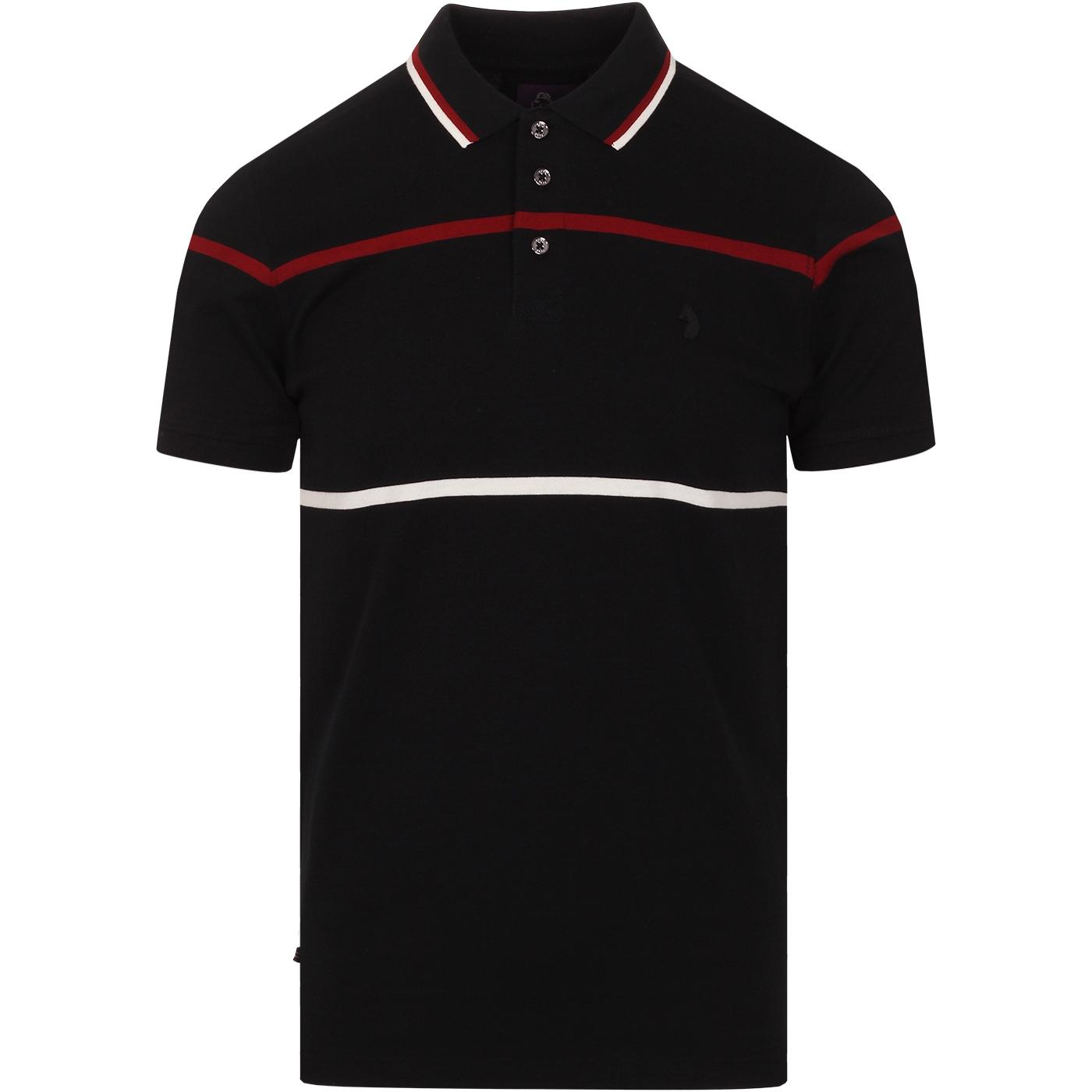 O'Brien LUKE Retro Mod Yarn Dyed Stripe Polo Top
