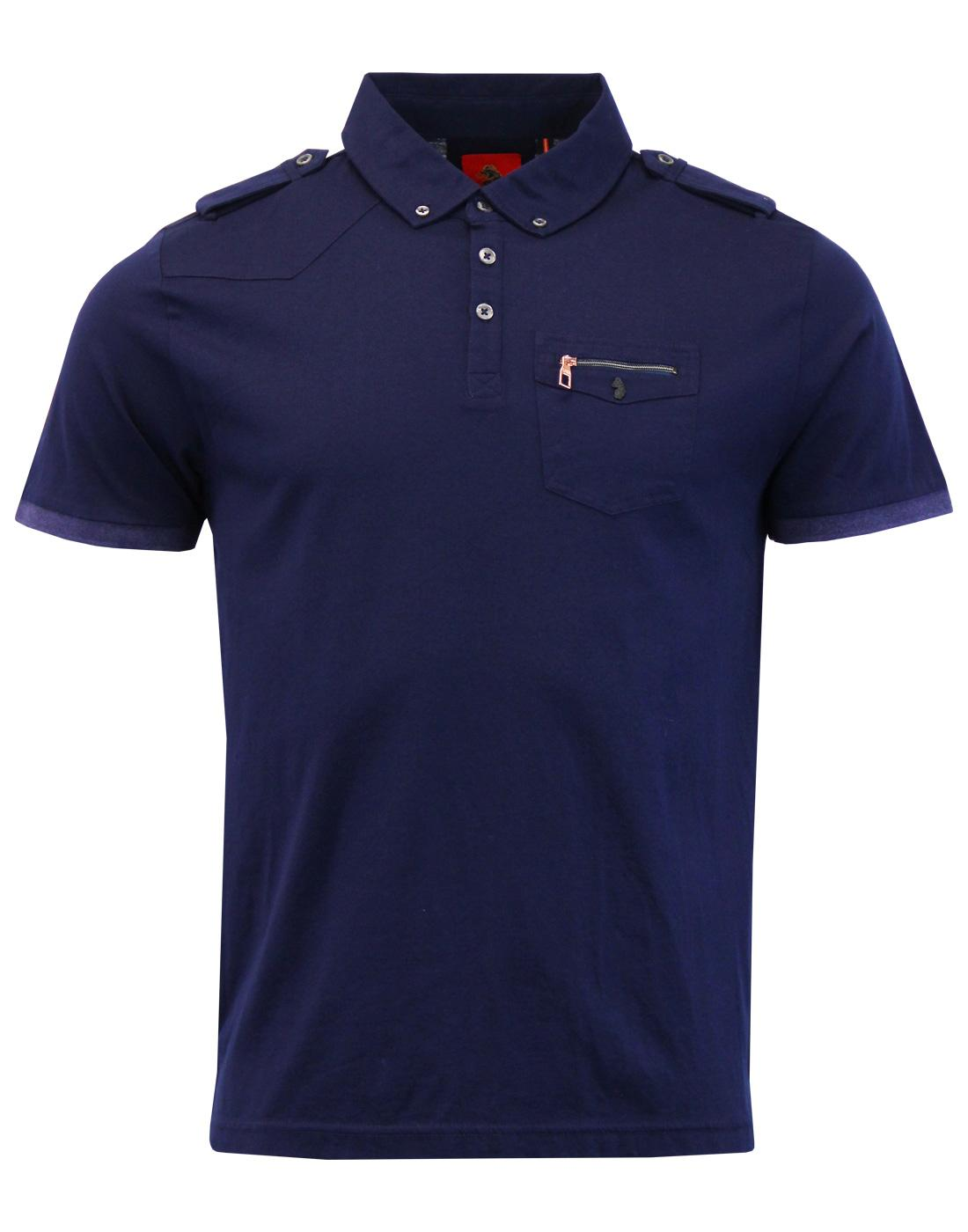 Privates LUKE 1977 Retro Military Mod Polo Top DN