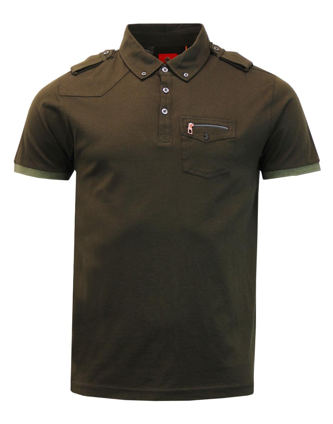 Privates LUKE 1977 Retro Mod Military Polo Top (K)