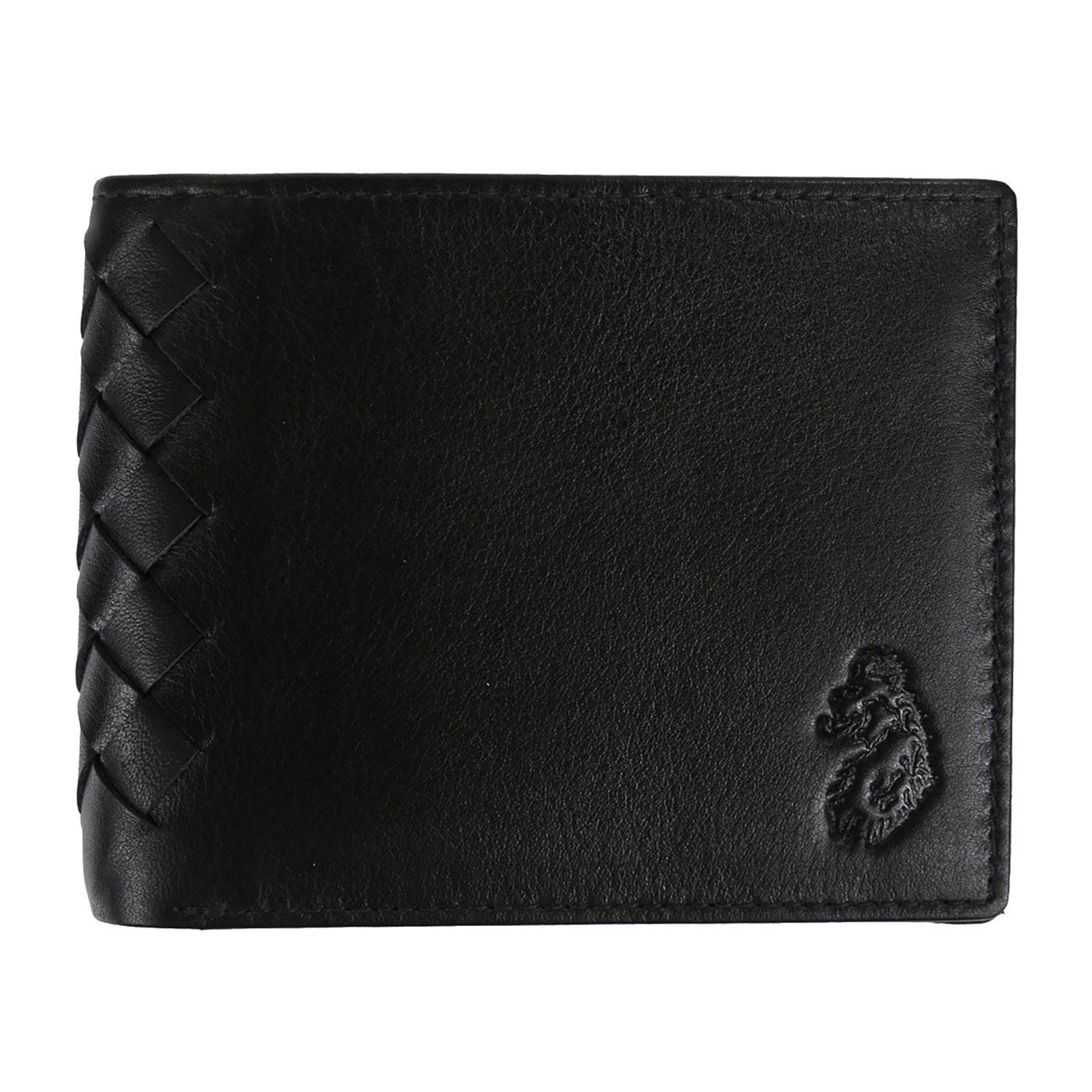 Spur LUKE Basket Weave Leather Bi-Fold Wallet