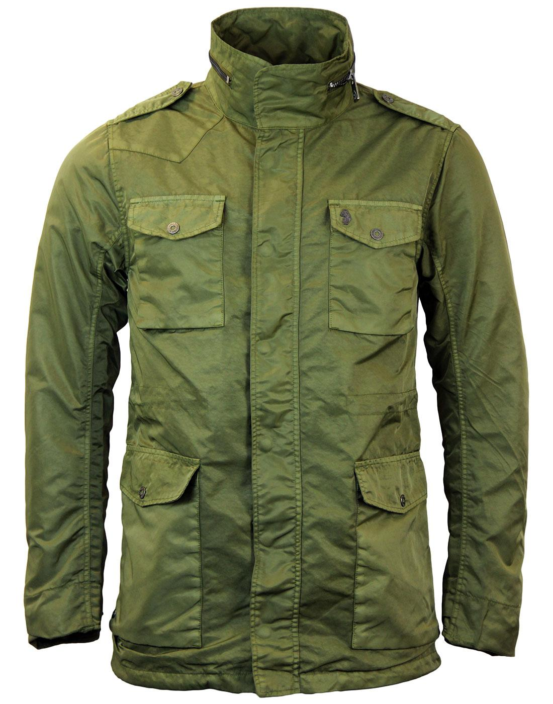 LUKE 1977 Squaddy Retro Mod Military Field Jacket in Pop Khaki 7b35e6dfde