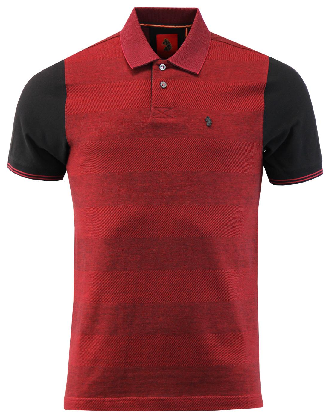 Tony Tonal LUKE 1977 Retro Mod Texture Stripe Polo