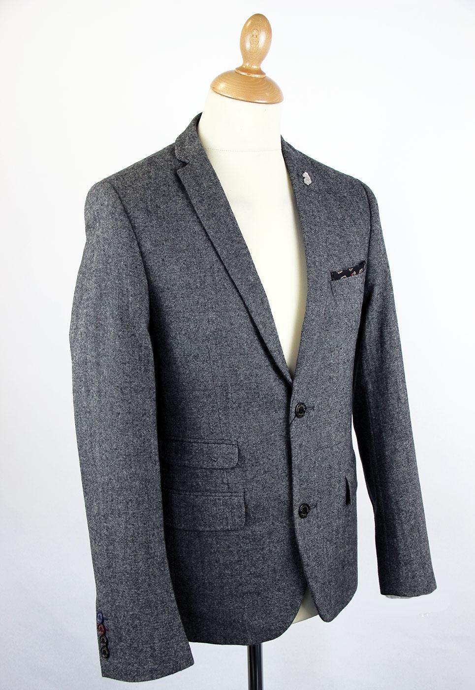 LUKE 1977 Soeron Retro 60s Mod Tailored Donegal Blazer Jacket 535678a0c