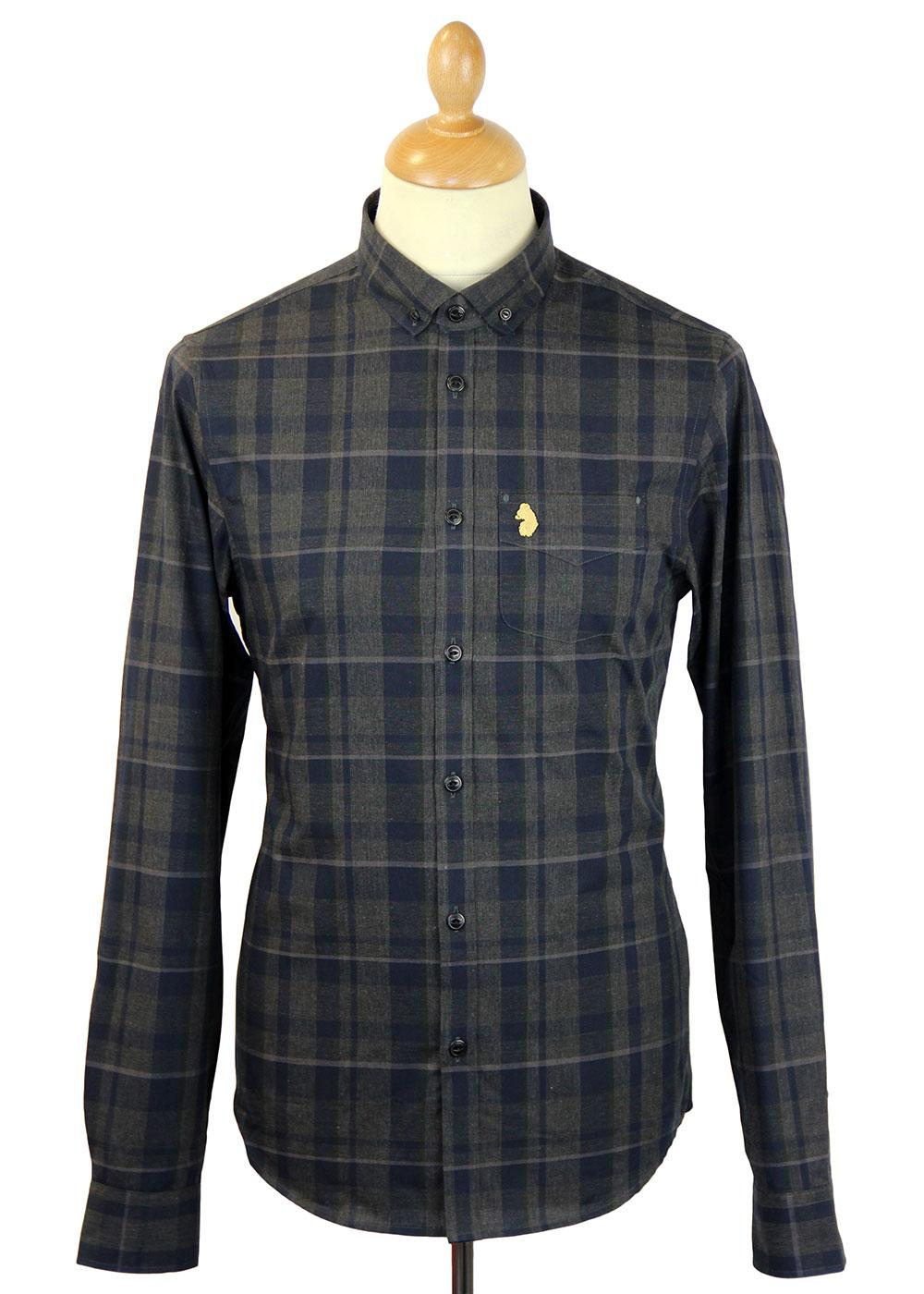 Slashers LUKE DENIM Mod Button Down Check Shirt CM