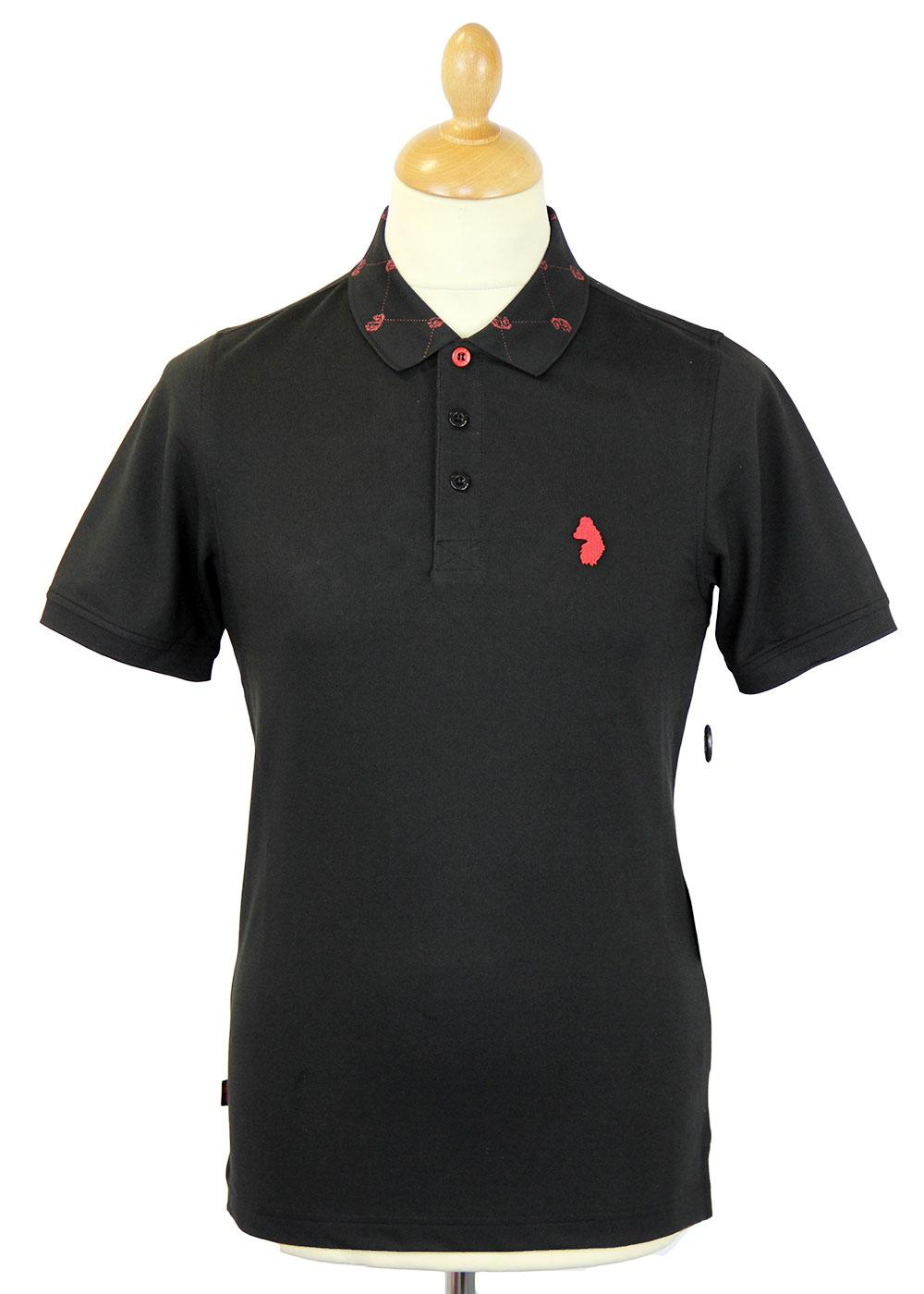 Landscape LUKE 1977 Mod Argyle Lion Collar Polo B