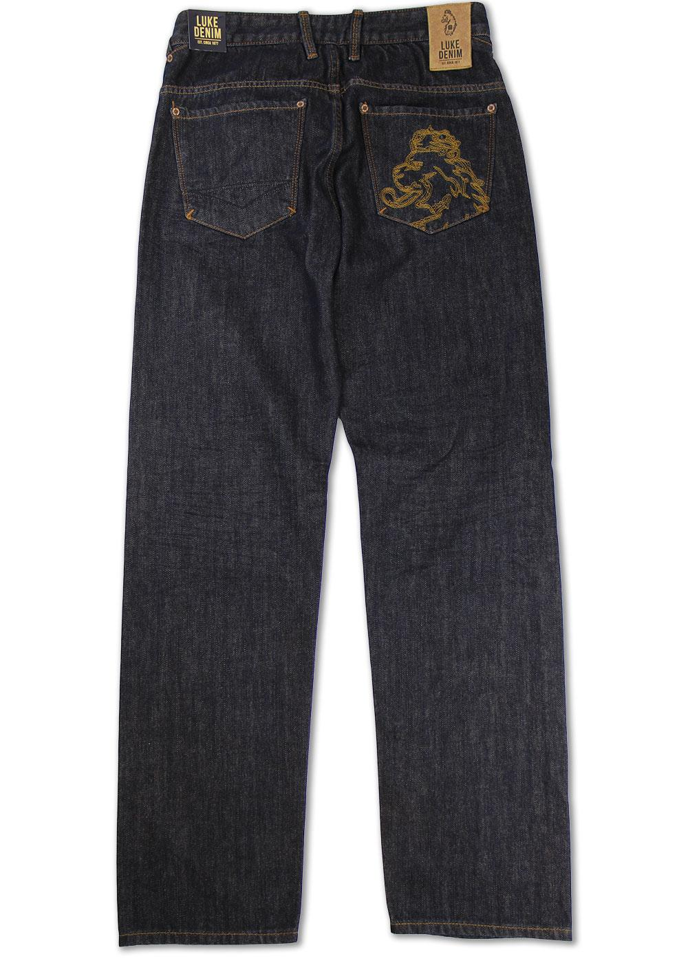 Eddie Lion Luke 1977 Retro Straight Leg Jeans (6M)
