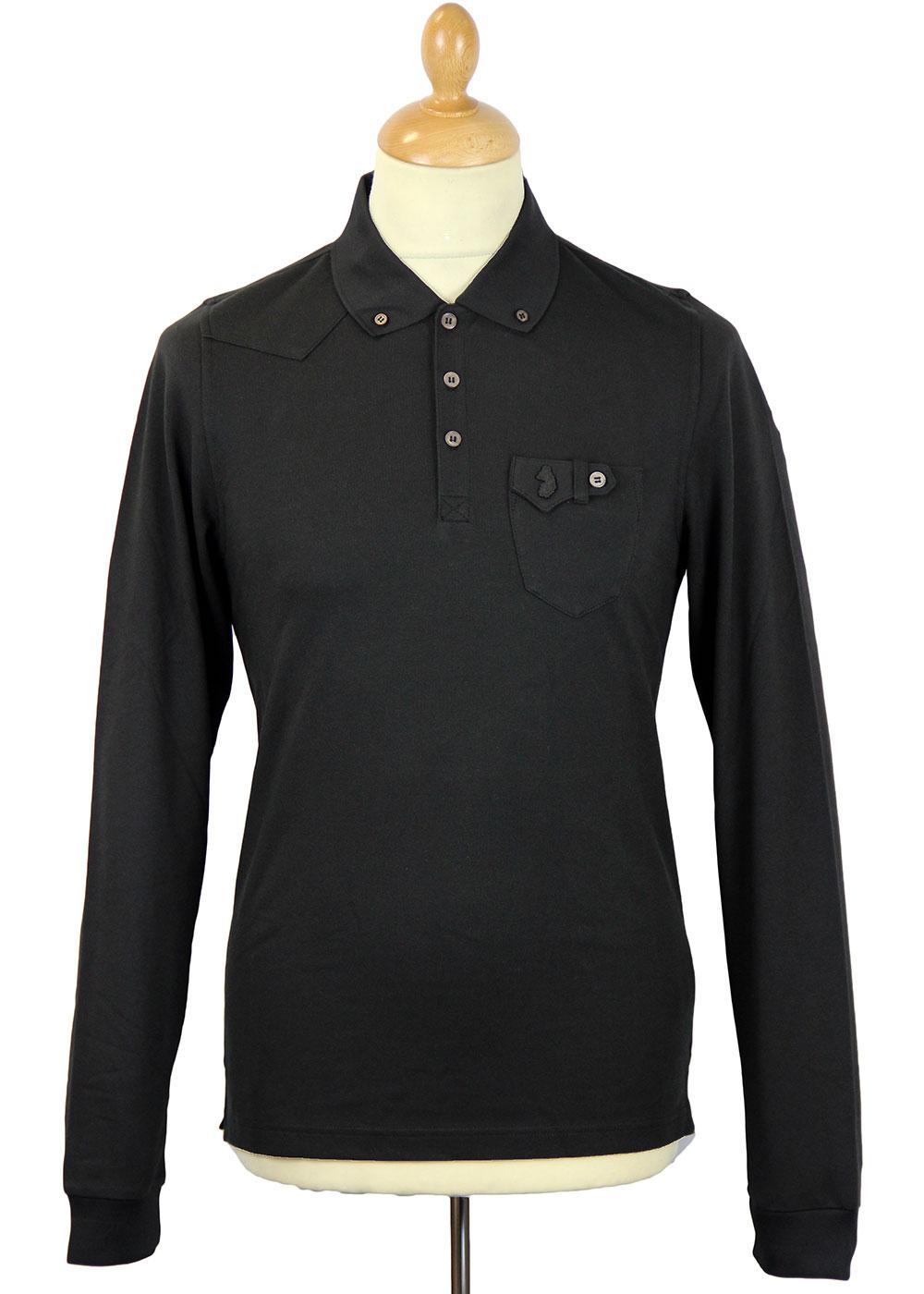 Steve Mitchell LUKE 1977 Retro Mod L/S Polo Shirt