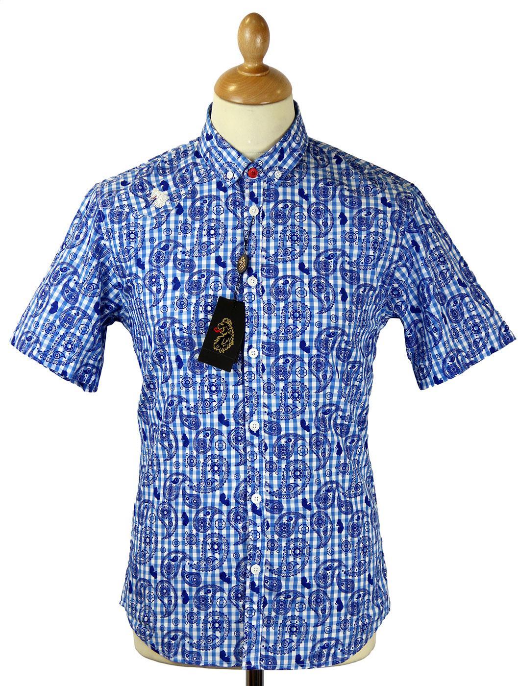 Magnum LUKE 1977 Retro Gingham Paisley Mod Shirt B