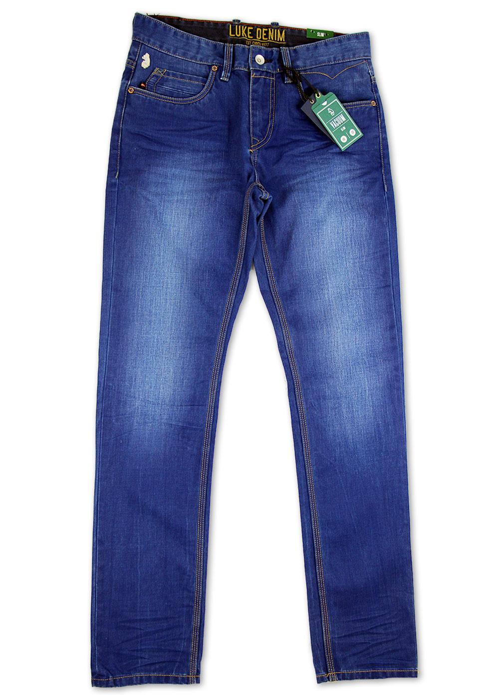 996c94c8 LUKE 1977 Vacuum Retro Mod Skinny Fit Denim Drainpipe Jeans Jovi