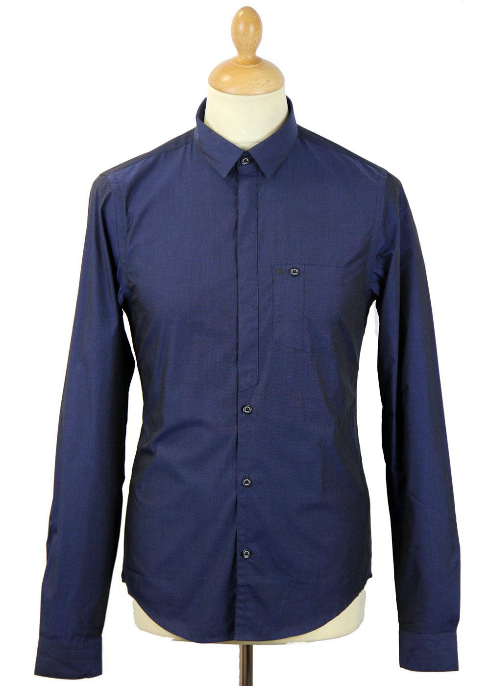 Marlows LUKE ROPER Half Concealed Placket Shirt M