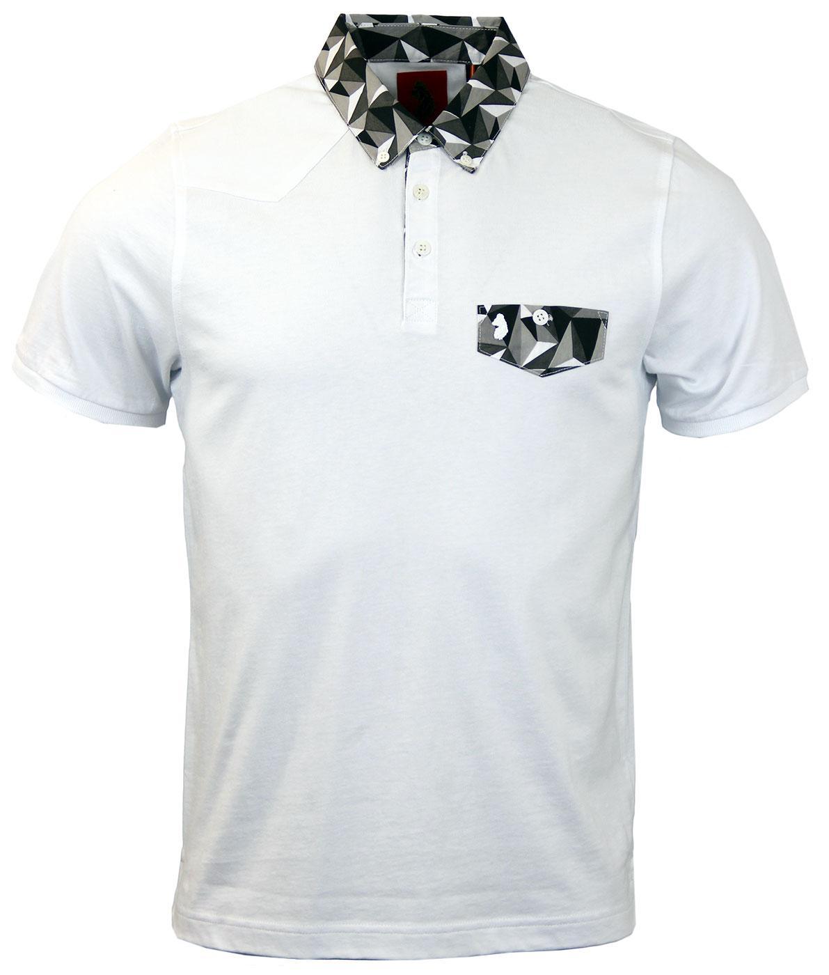 Outlook LUKE 1977 Mod Geo Print Shirt Collar Polo