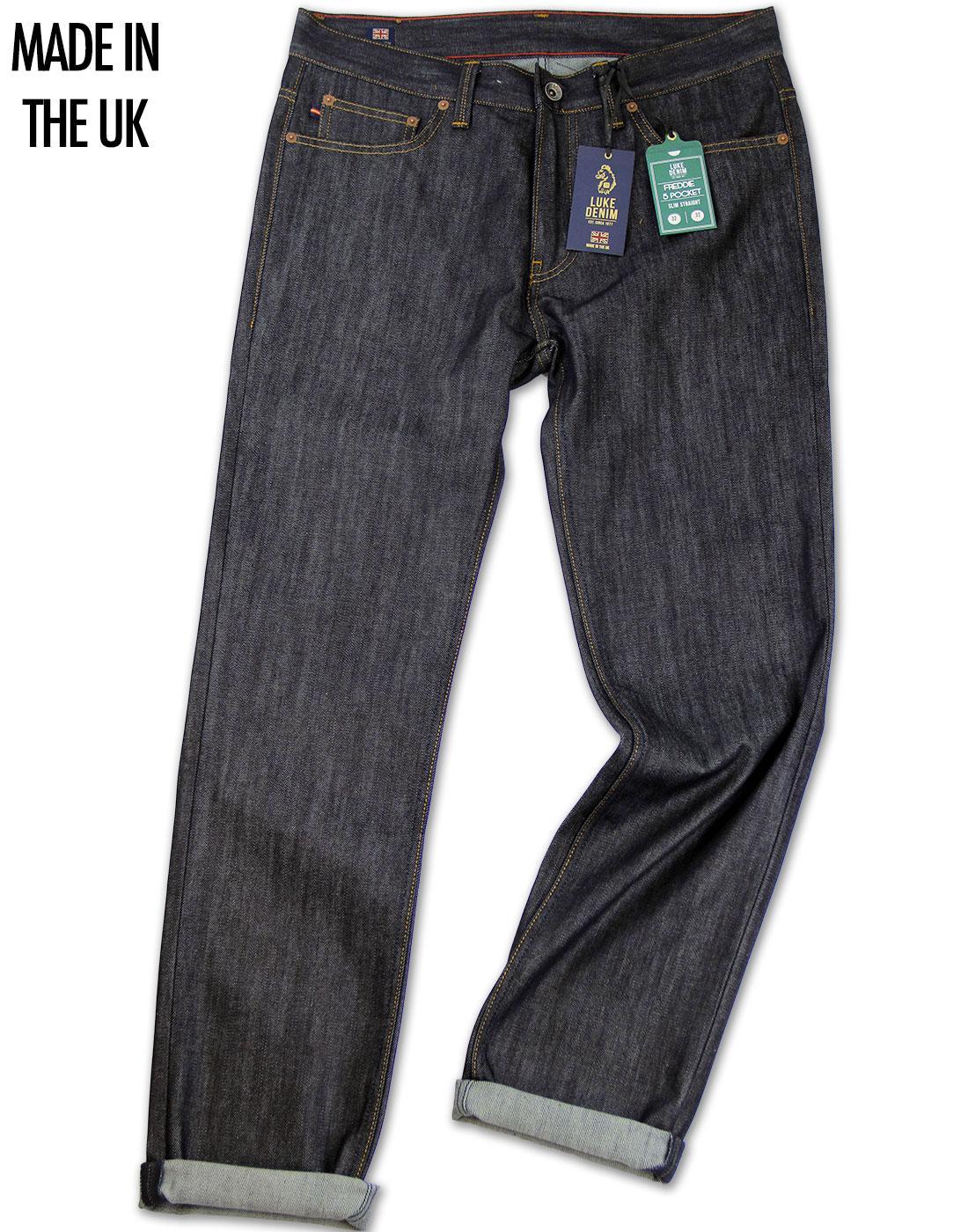 Freddie LUKE DENIM Made In UK Retro Raw Slim Jeans