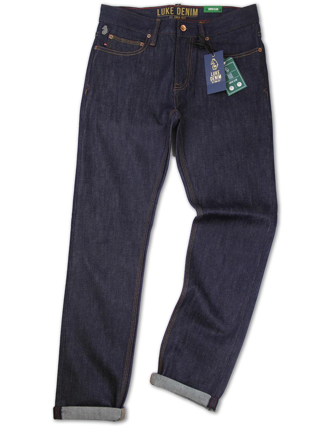 Rui LUKE DENIM Retro Raw Stretch Skinny Jeans