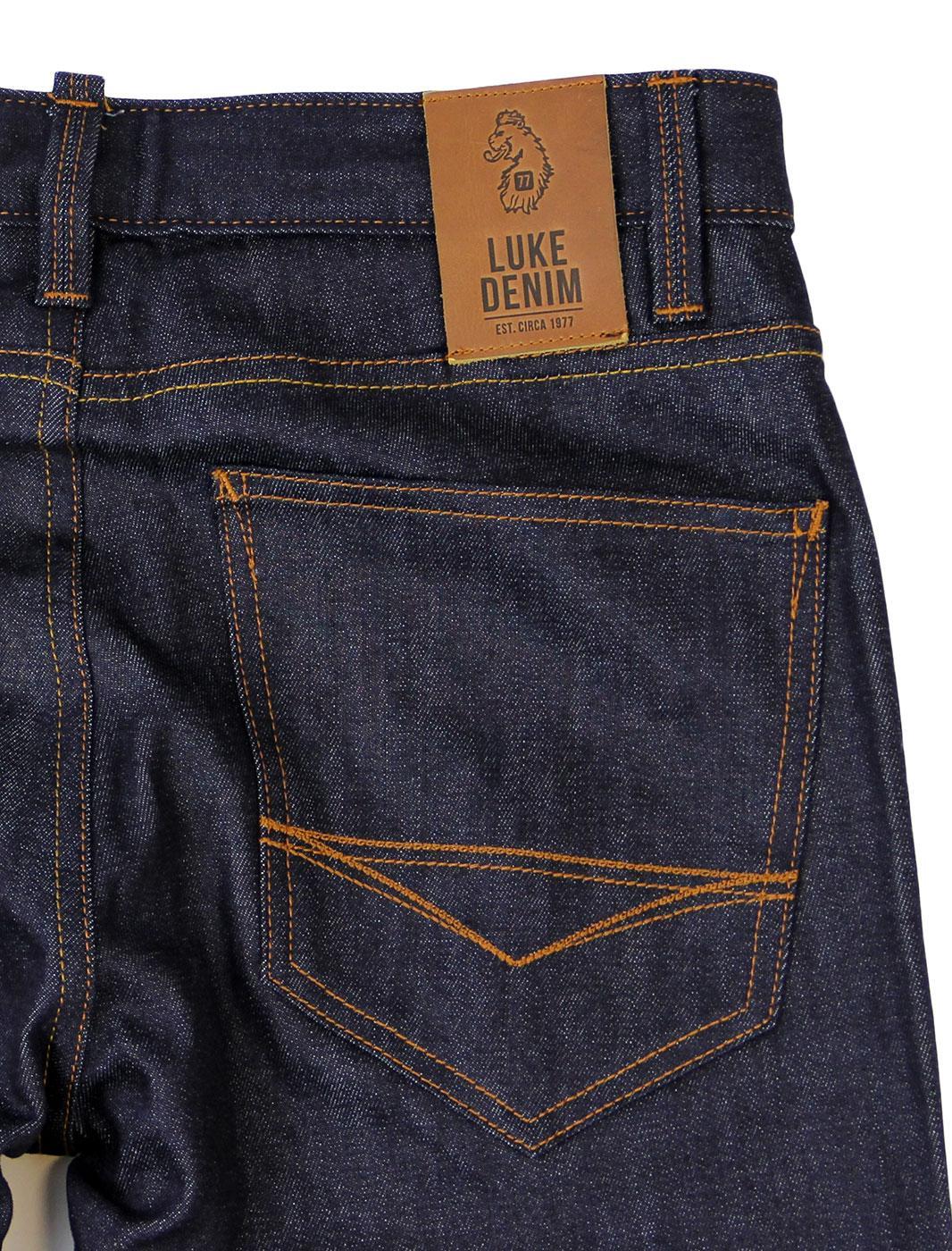 bc3e17aab Rui LUKE DENIM Retro Raw Stretch Skinny Jeans