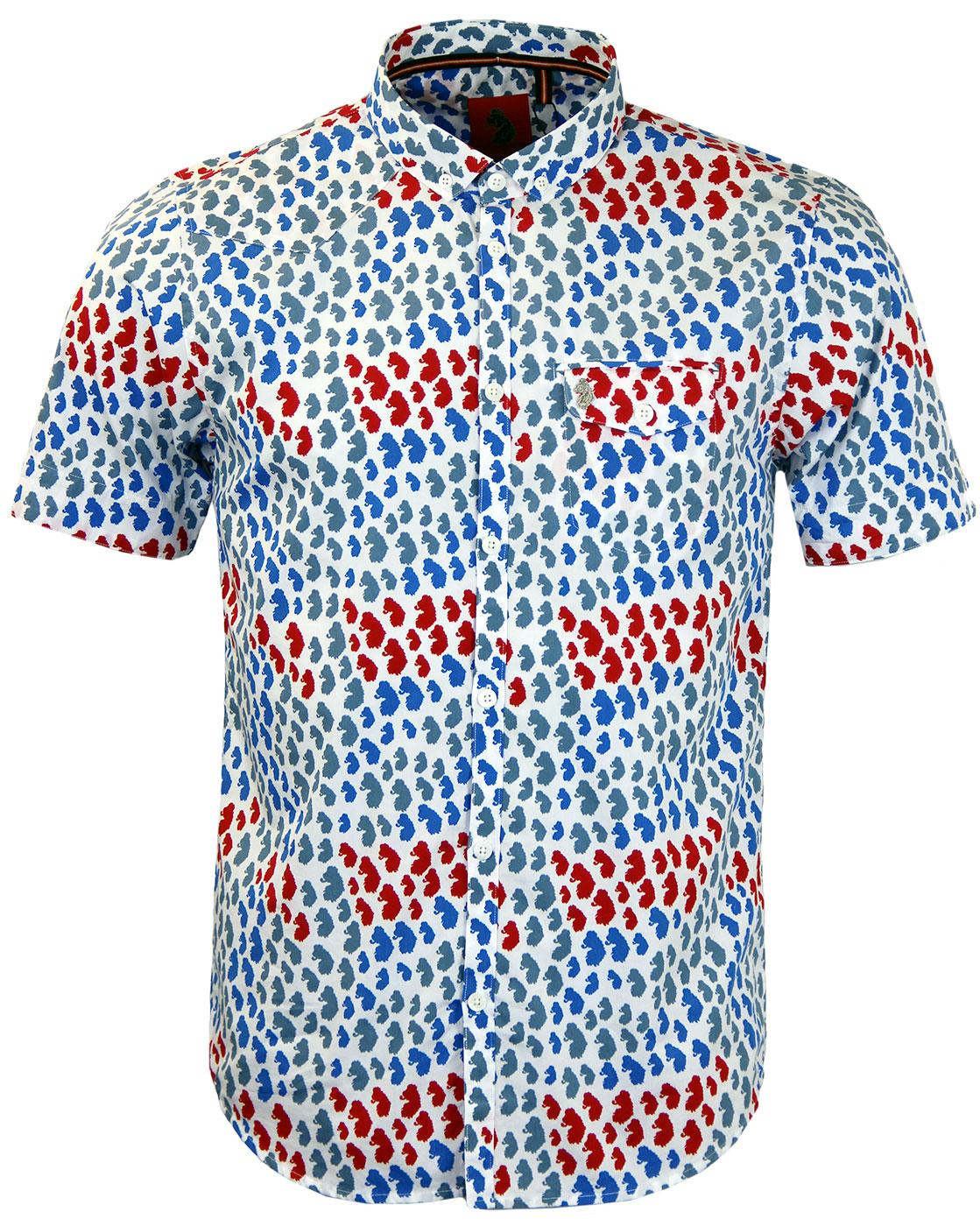 The Nappa LUKE 1977 Retro Mod Lion Print SS Shirt