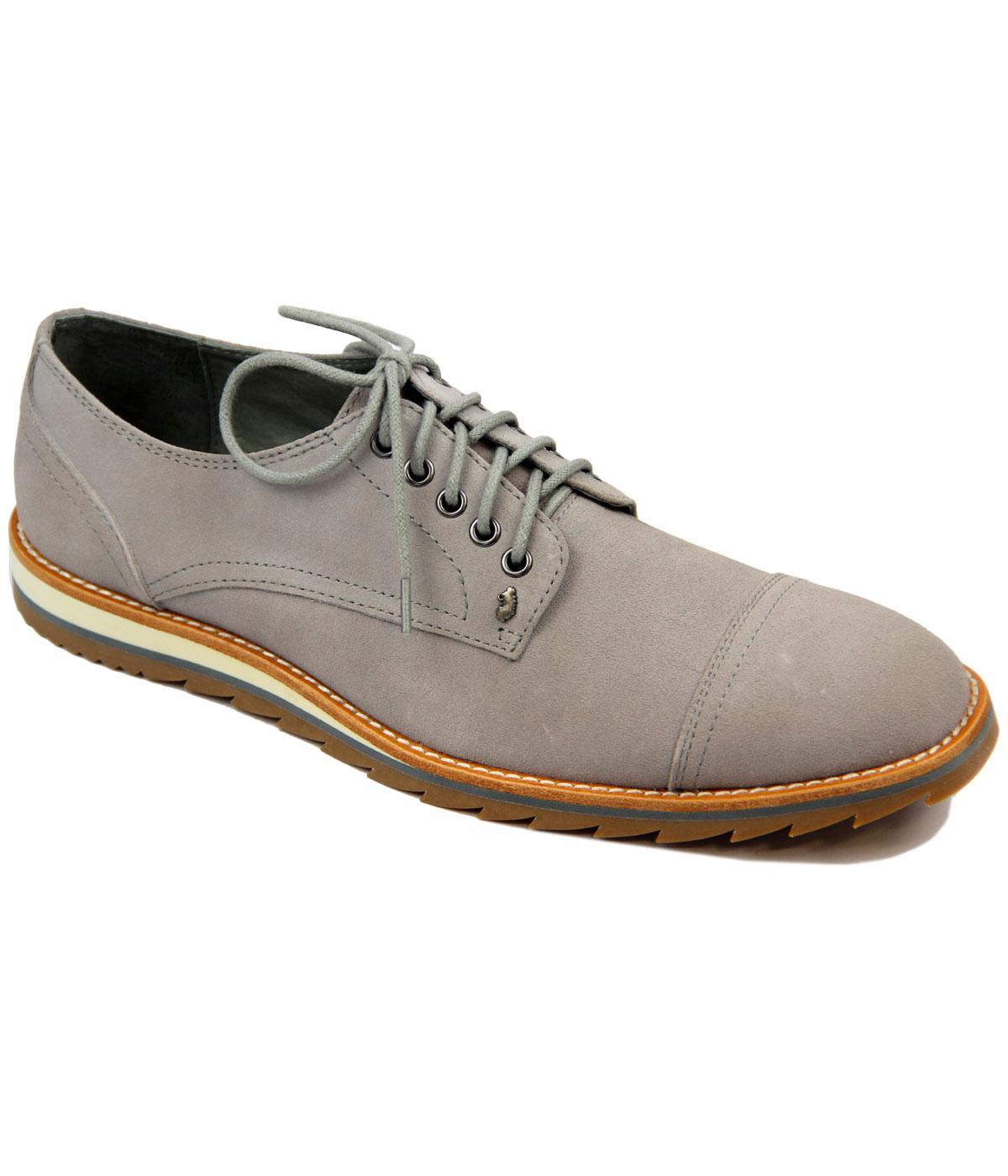 Turners Toe Cap LUKE 1977 Retro Mod Suede Shoes G