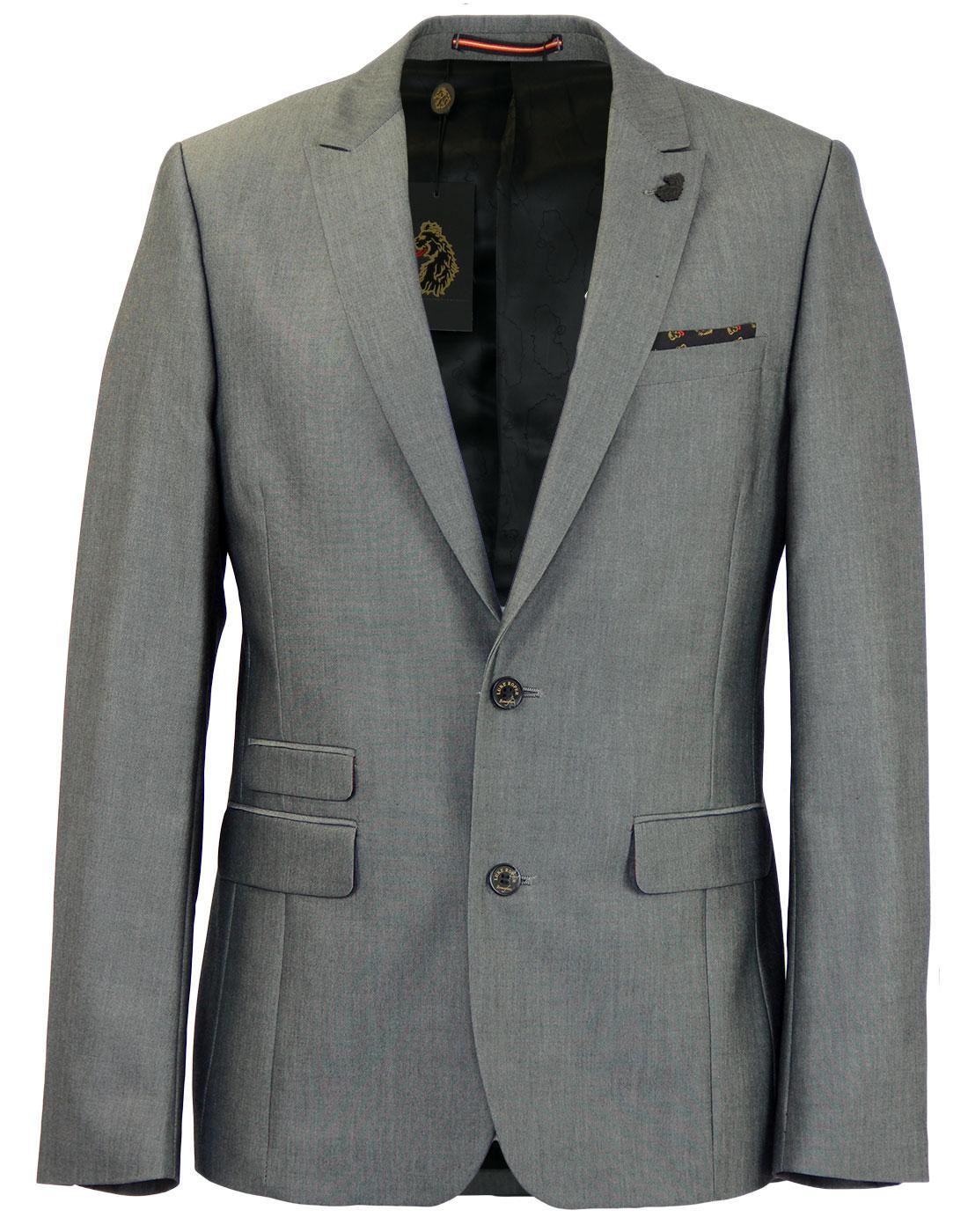 LUKE ROPER Guilty Retro Mod 2 Button Tailored Suit Jacket Grey 95694a50c