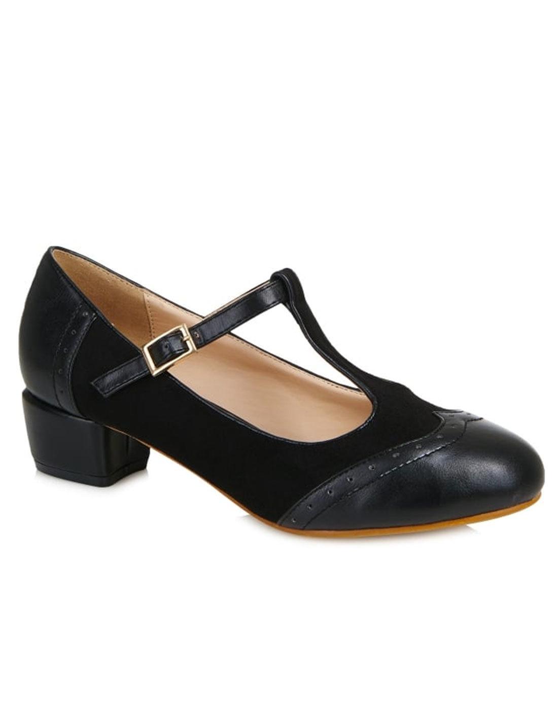 ac96166a6dc LULU HUN Georgia Retro Mod 60 s Spectator Shoes in Black