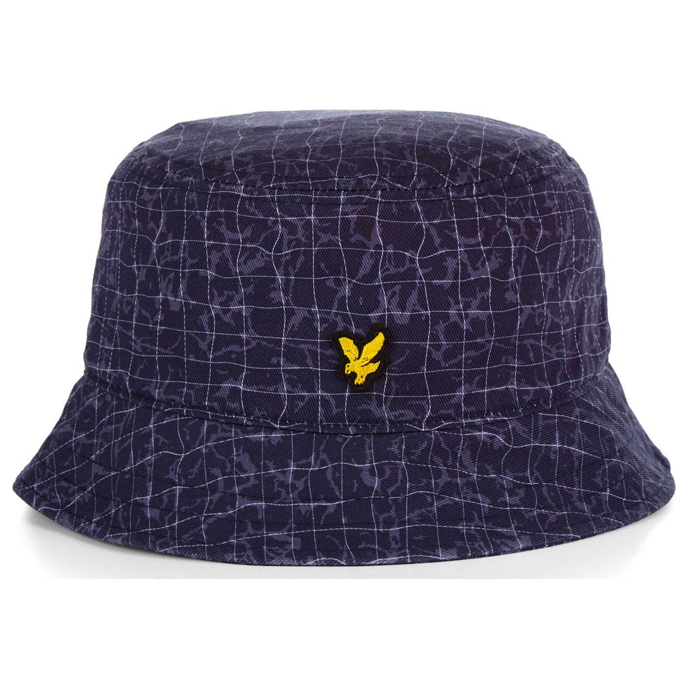 LYLE & SCOTT Retro 90s Pool Print Bucket Hat NAVY