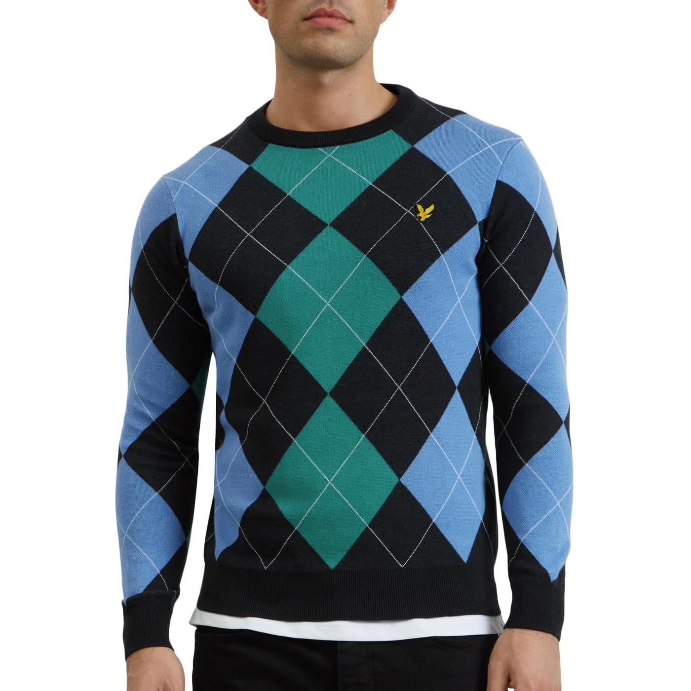 LYLE & SCOTT 60s Mod Diamond Argyle Knit Jumper