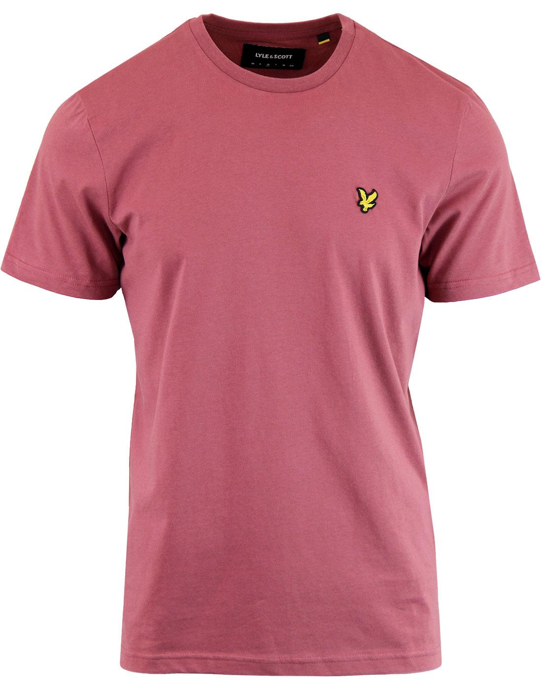 LYLE & SCOTT Men's Crew Neck T-Shirt (Red Grape)
