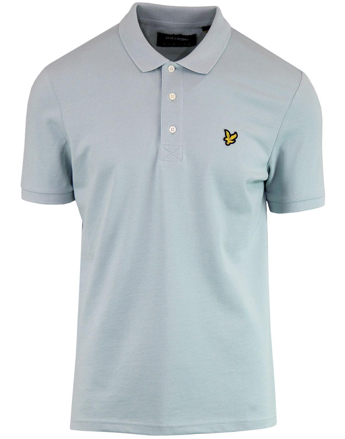 LYLE & SCOTT Classic Mod Pique Polo Shirt (Powder)