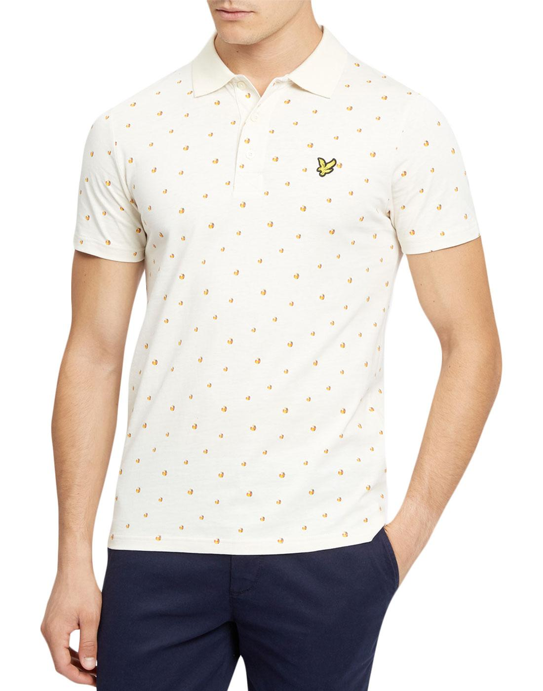 LYLE & SCOTT Retro 70s Beach Ball Print Polo Shirt