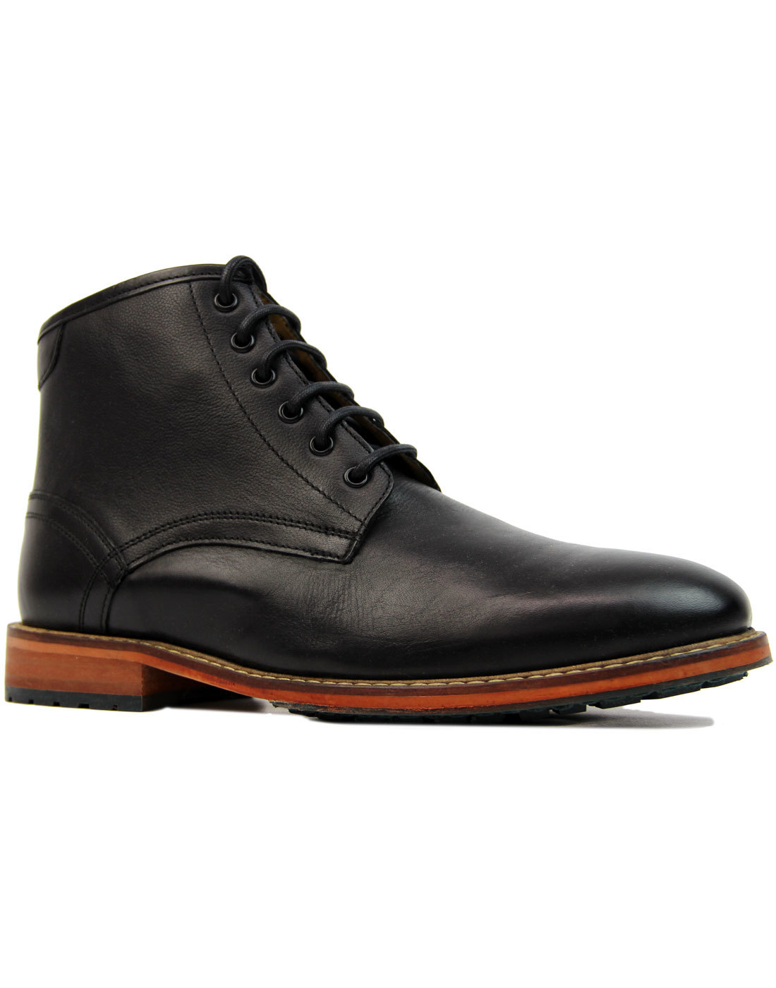 Endrick LYLE & SCOTT Retro Mod Worker Boots BLACK