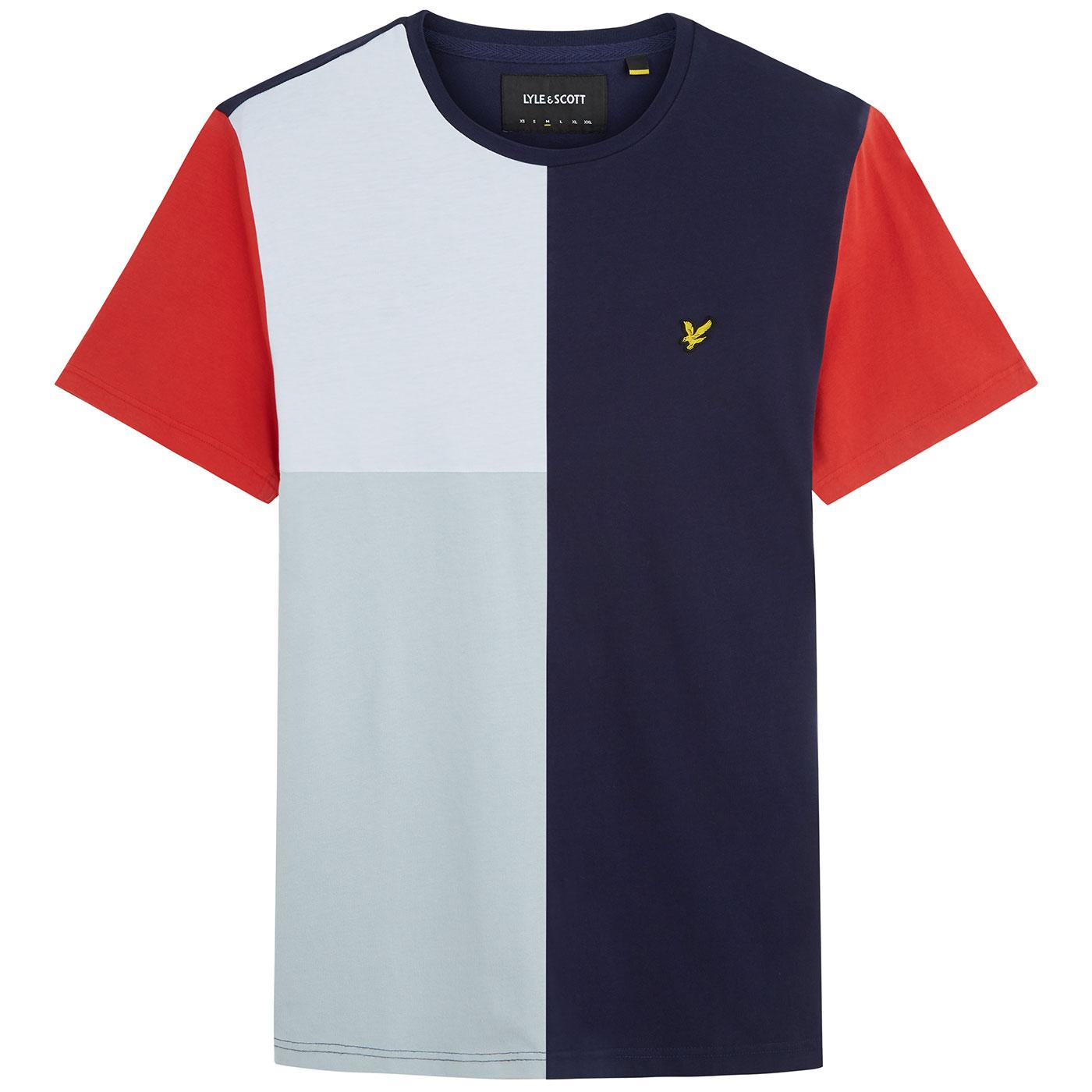 LYLE & SCOTT Men's Retro Colour Block T-shirt NAVY