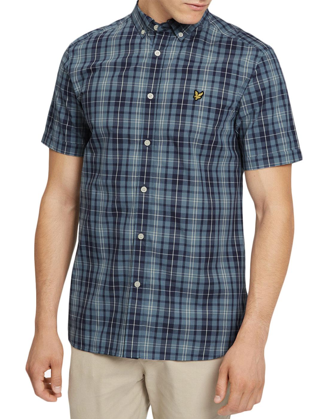LYLE & SCOTT Men's Mod Plaid Check SS Shirt (MB)