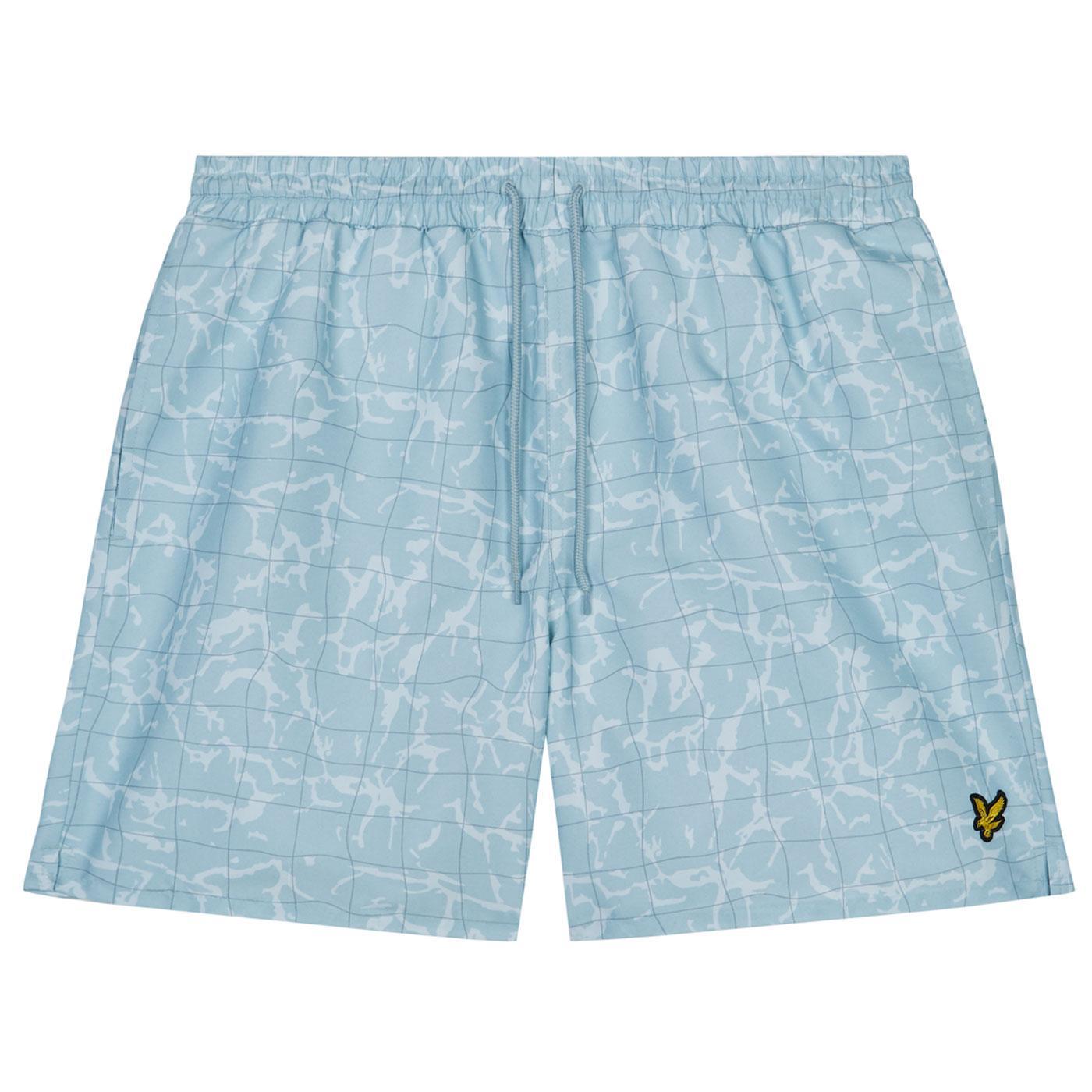 LYLE & SCOTT Blue Shore Pool Print Swim Shorts