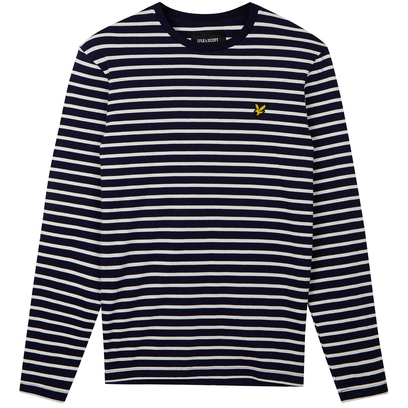 LYLE & SCOTT Retro Mod Long Sleeve Breton Tee NAVY