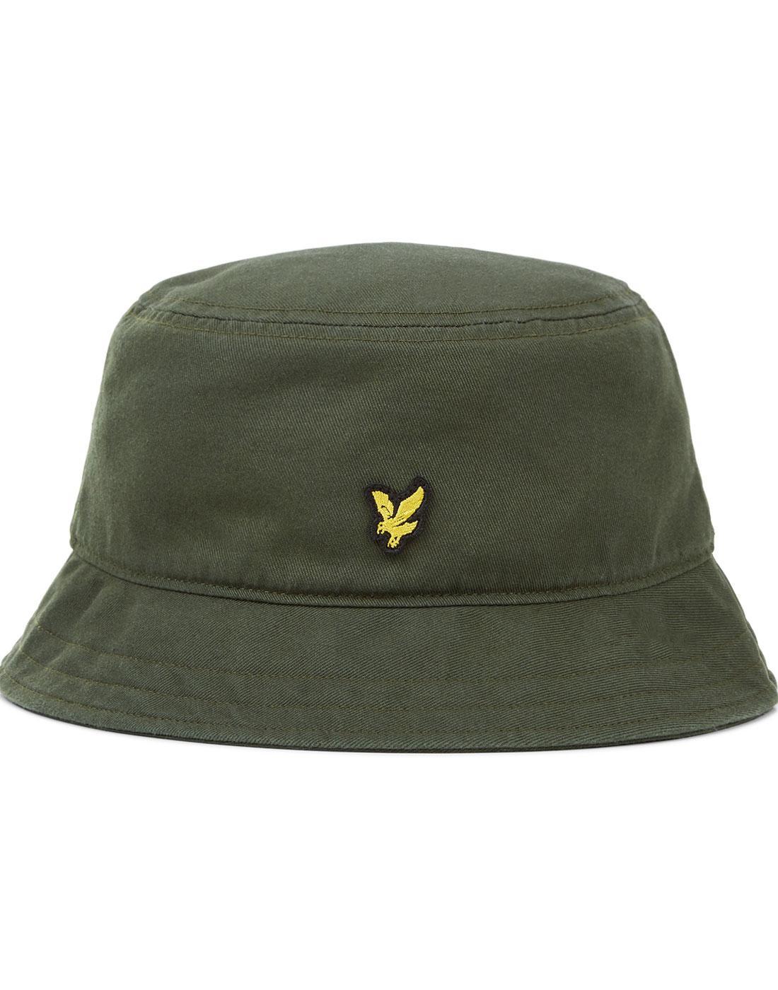 94b69f8a81ed8a LYLE & SCOTT Retro 90s Britpop Twill Bucket Hat Leaf Green