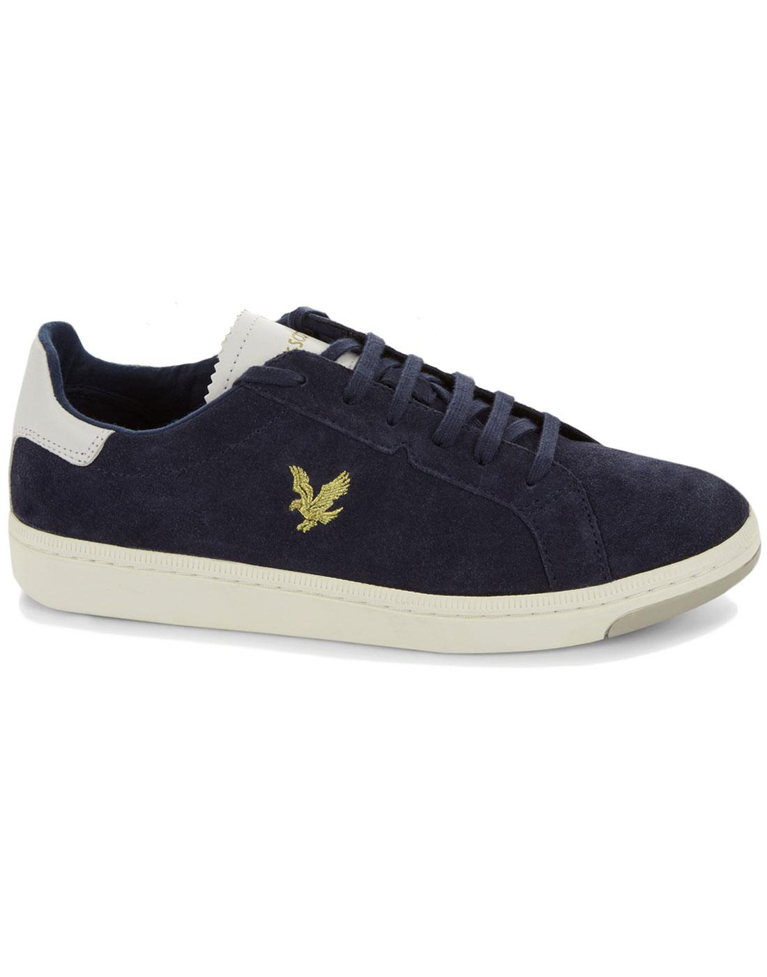 Burchill LYLE & SCOTT Retro Suede Trainers NAVY