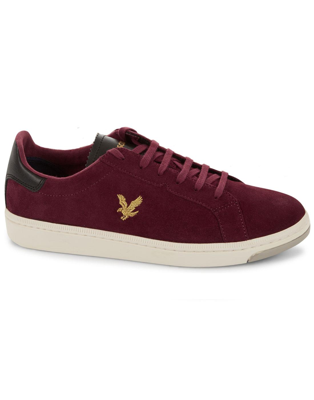 Burchill LYLE & SCOTT Retro Suede Trainers CLARET