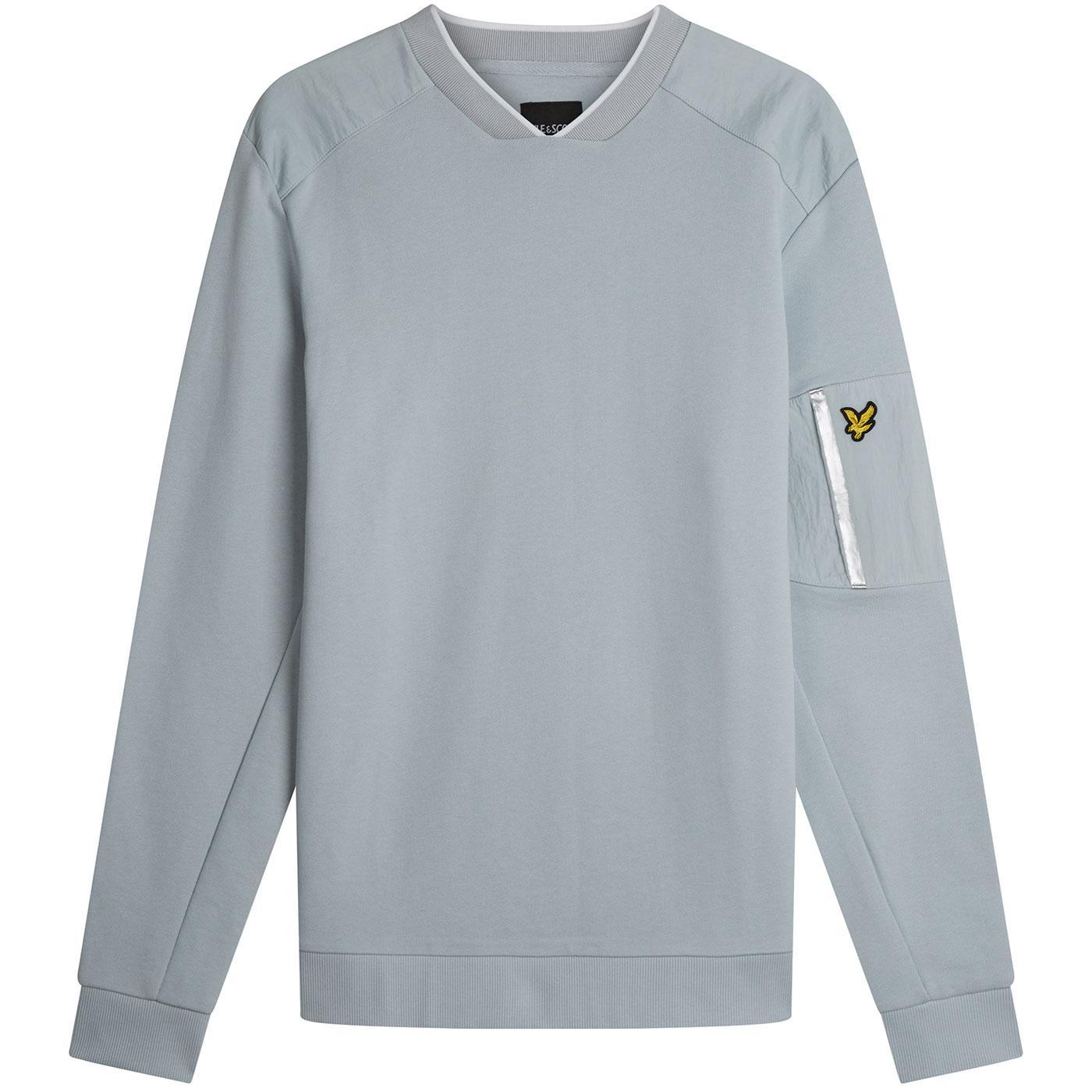 LYLE & SCOTT Nylon Panel Casuals Sweatshirt SILVER