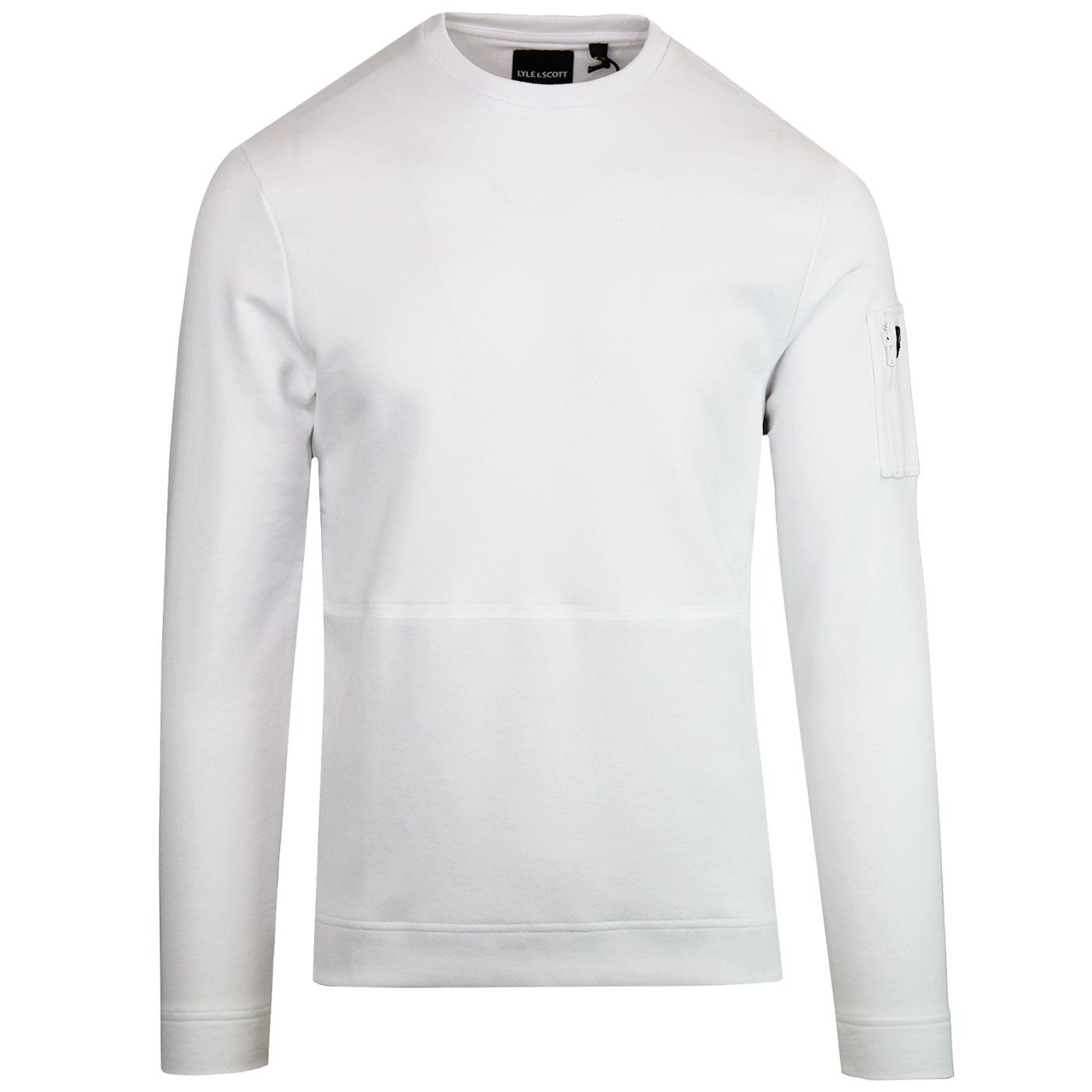 LYLE & SCOTT Men's Retro Casuals Sweatshirt WHITE