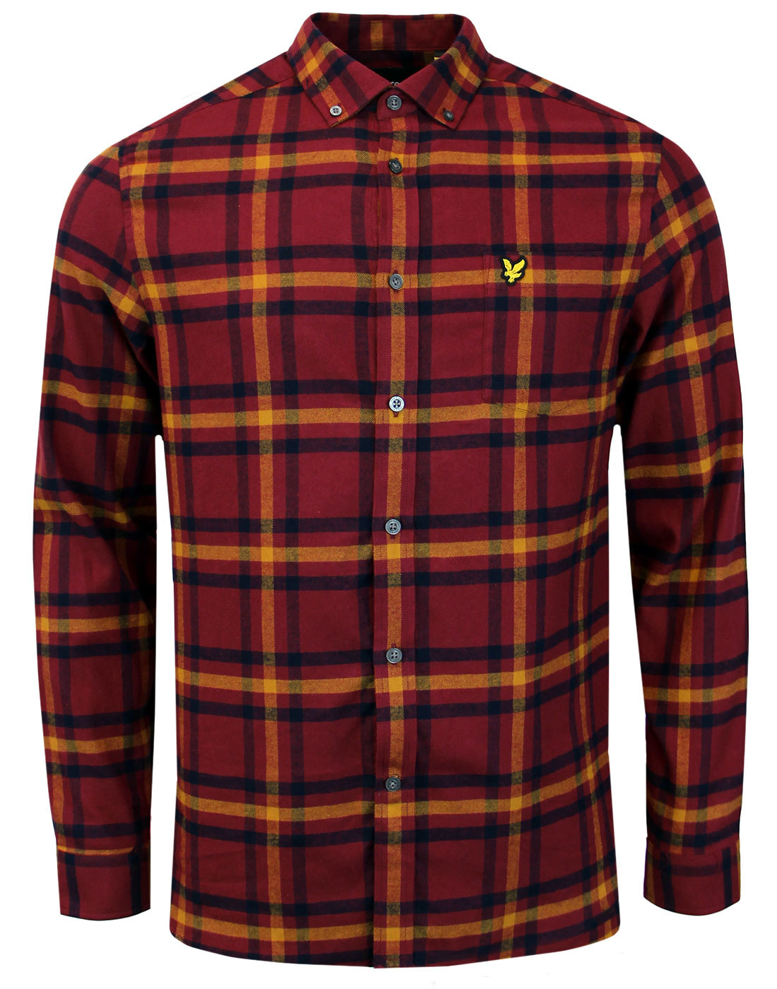 LYLE & SCOTT Retro Mod Plaid Check Flannel Shirt