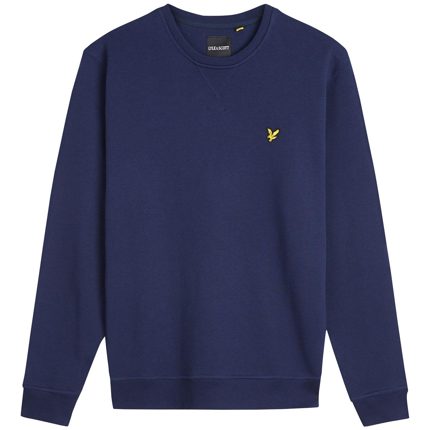 LYLE & SCOTT Men's Mod Crew Neck Sweatshirt NAVY