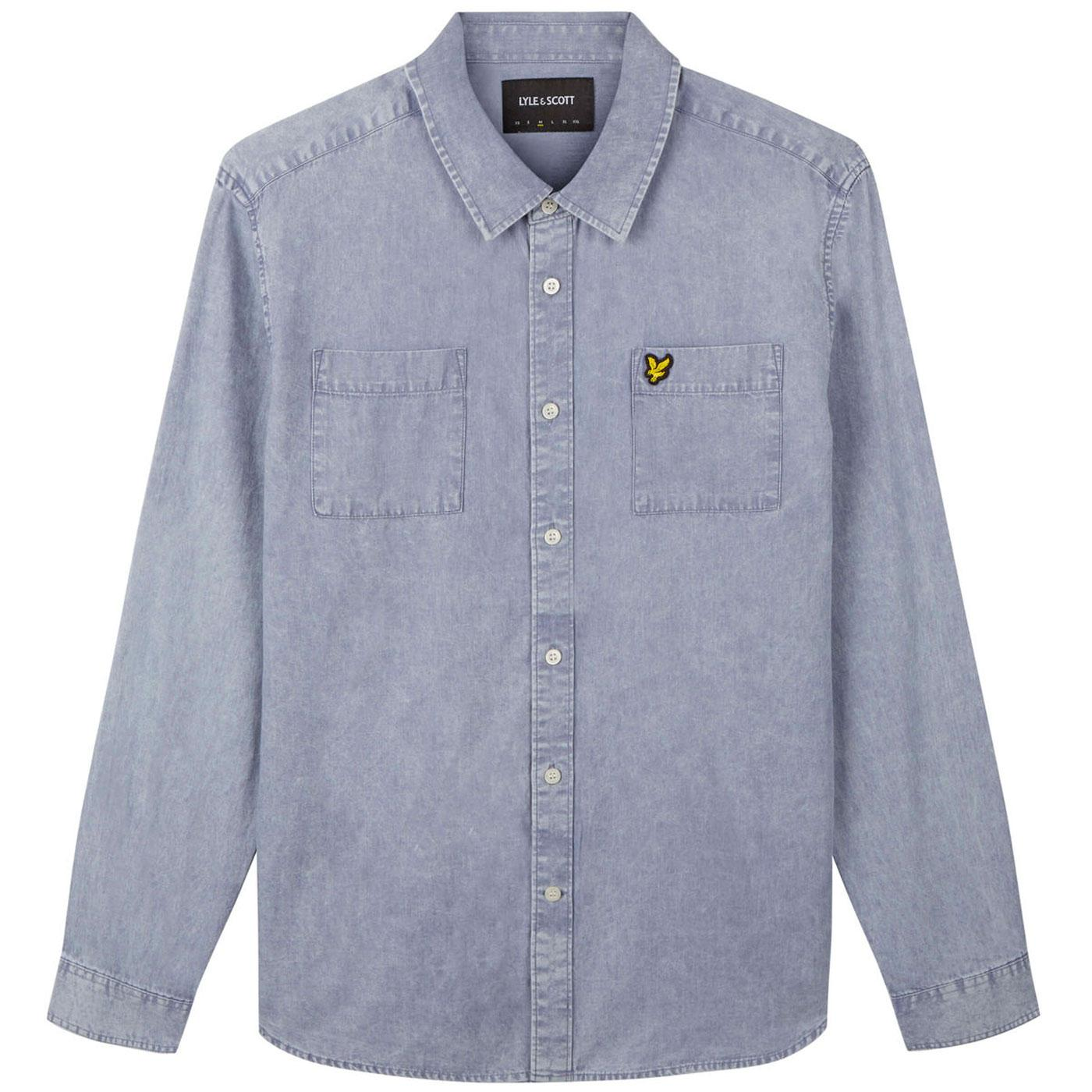 LYLE & SCOTT Retro Sun bleached Shirt (Cloud Blue)
