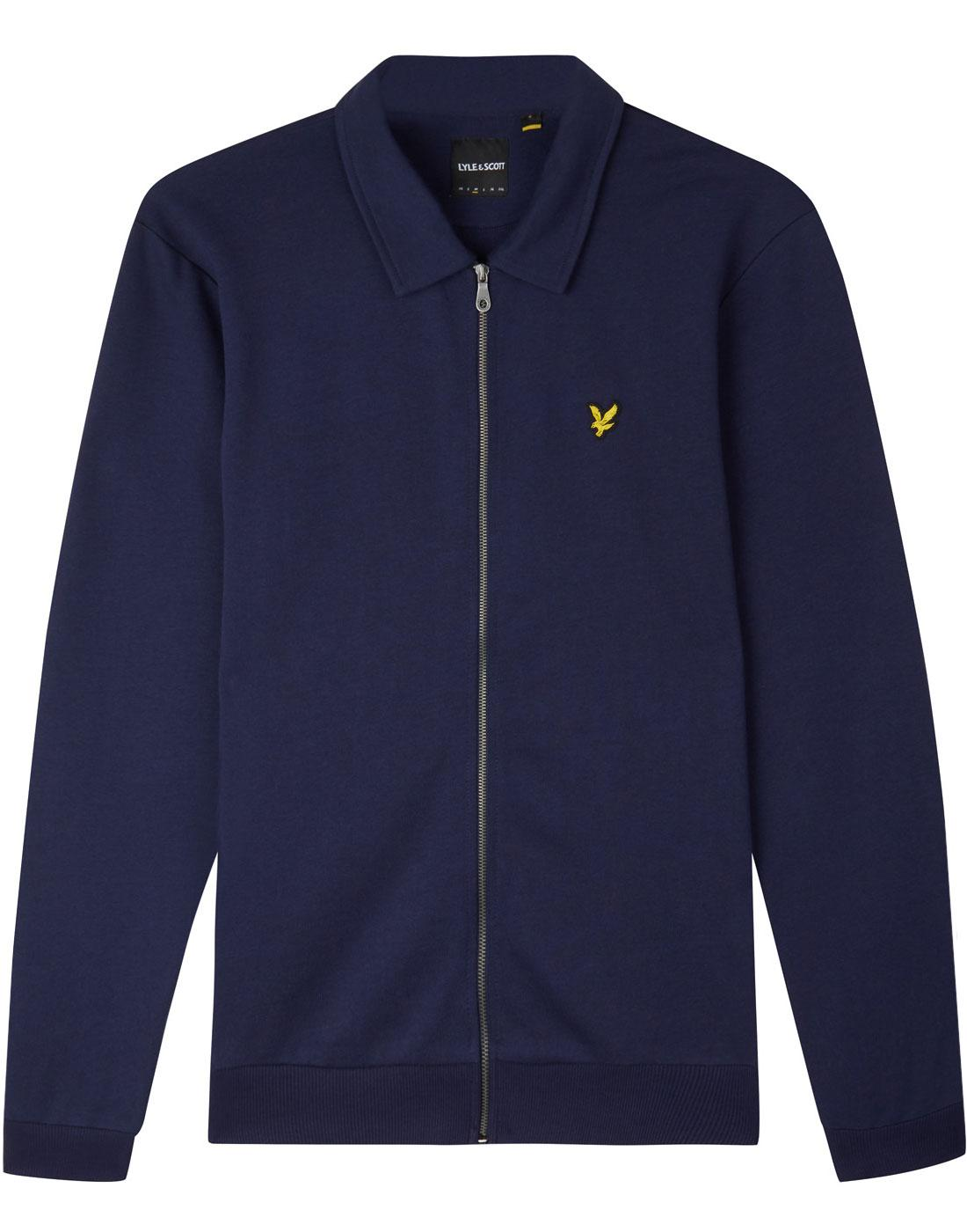 LYLE & SCOTT Retro 90s Collared Bomber Jacket NAVY