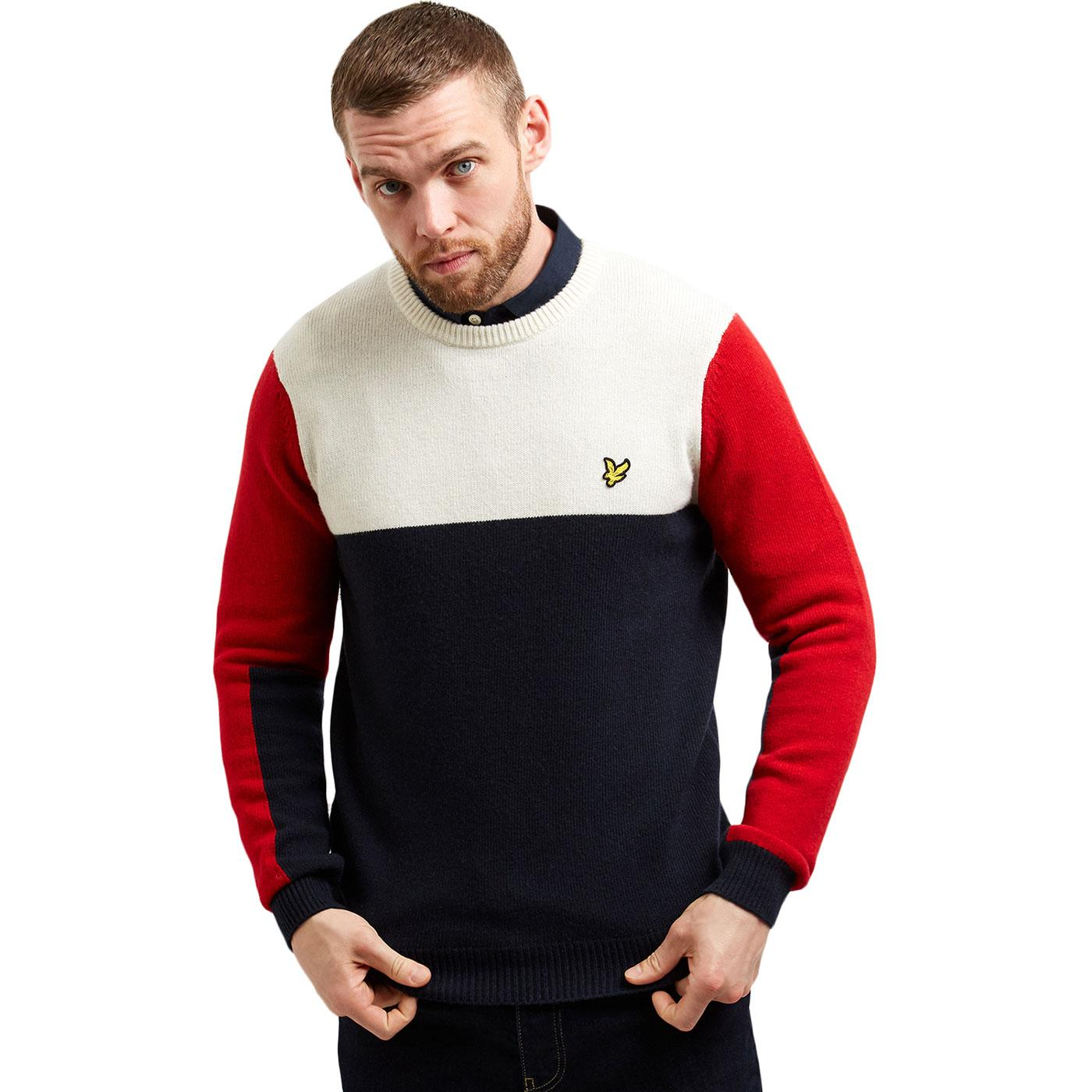 LYLE & SCOTT Retro Mod Colour Block Knit Jumper N