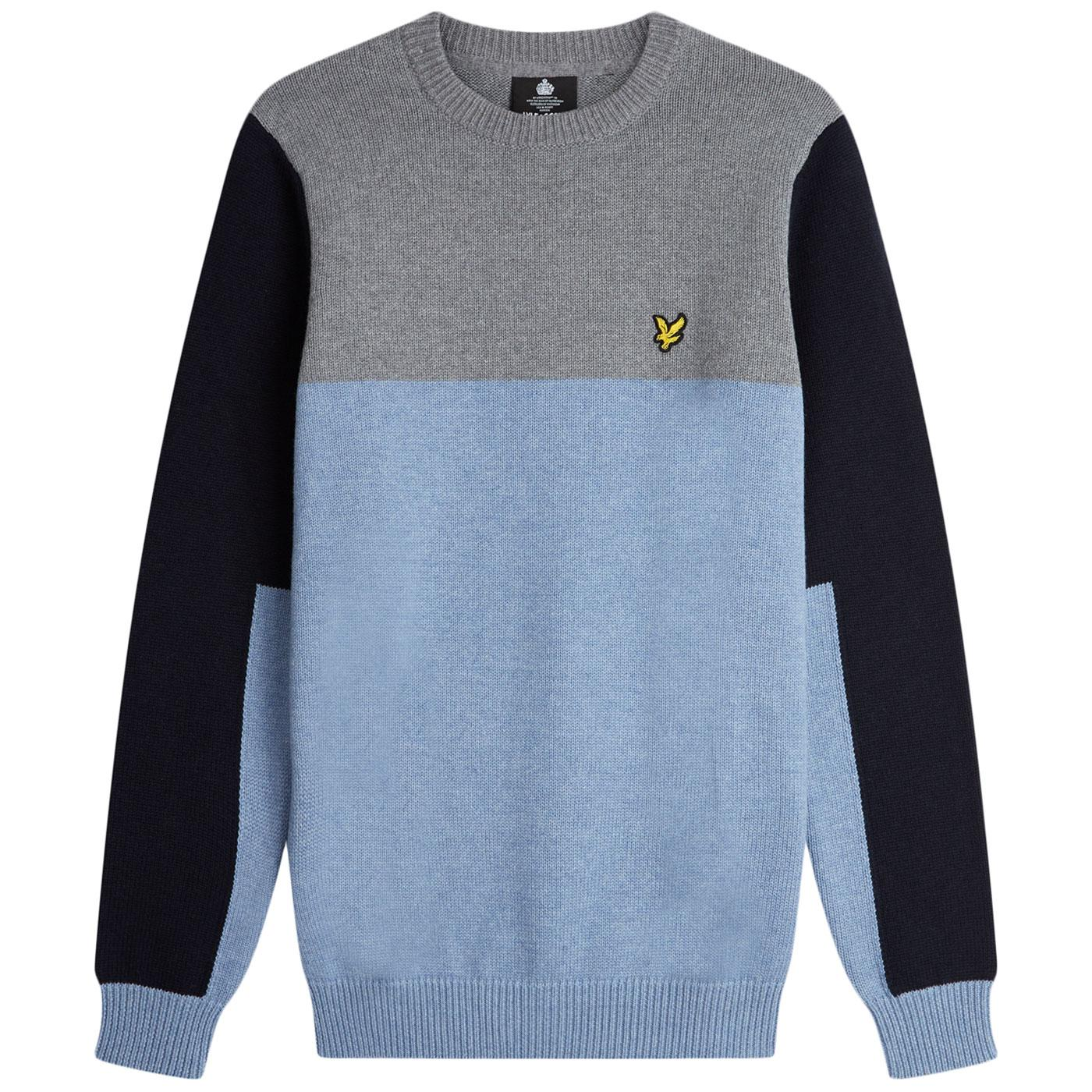 LYLE & SCOTT Retro Mod Colour Block Knit Jumper SB