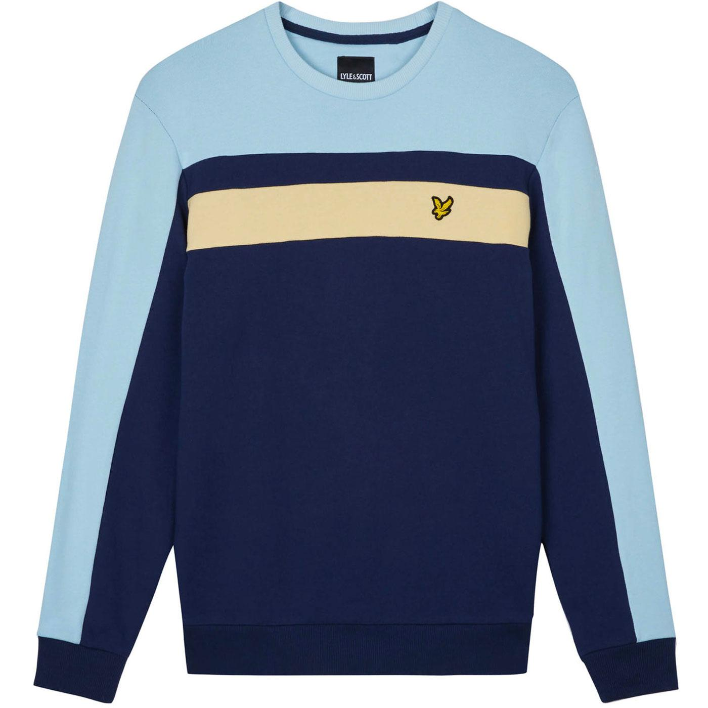 LYLE & SCOTT Retro 80s Colour Block Sweatshirt (N)